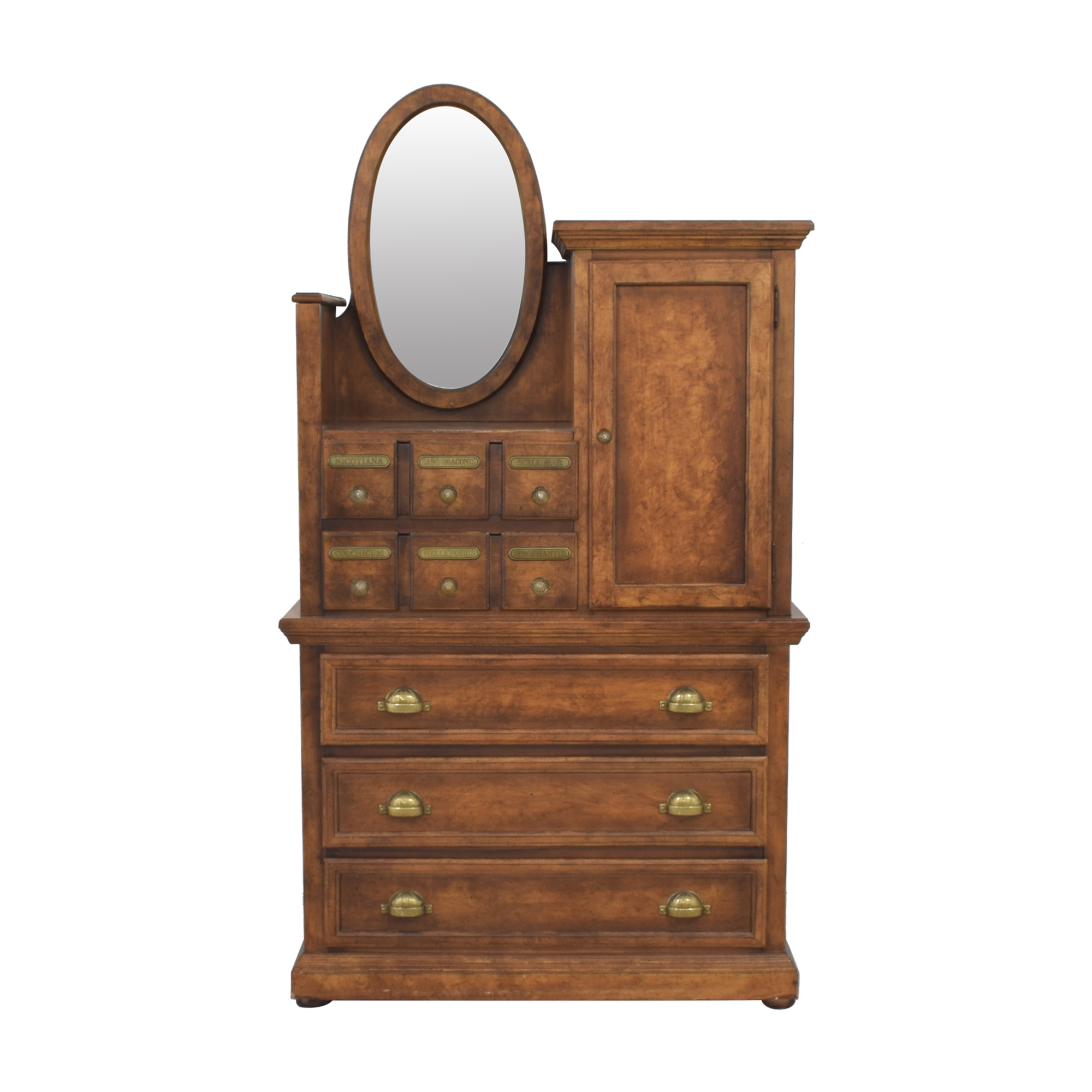 Antique Apothecary Wardrobe with Mirror / Dressers