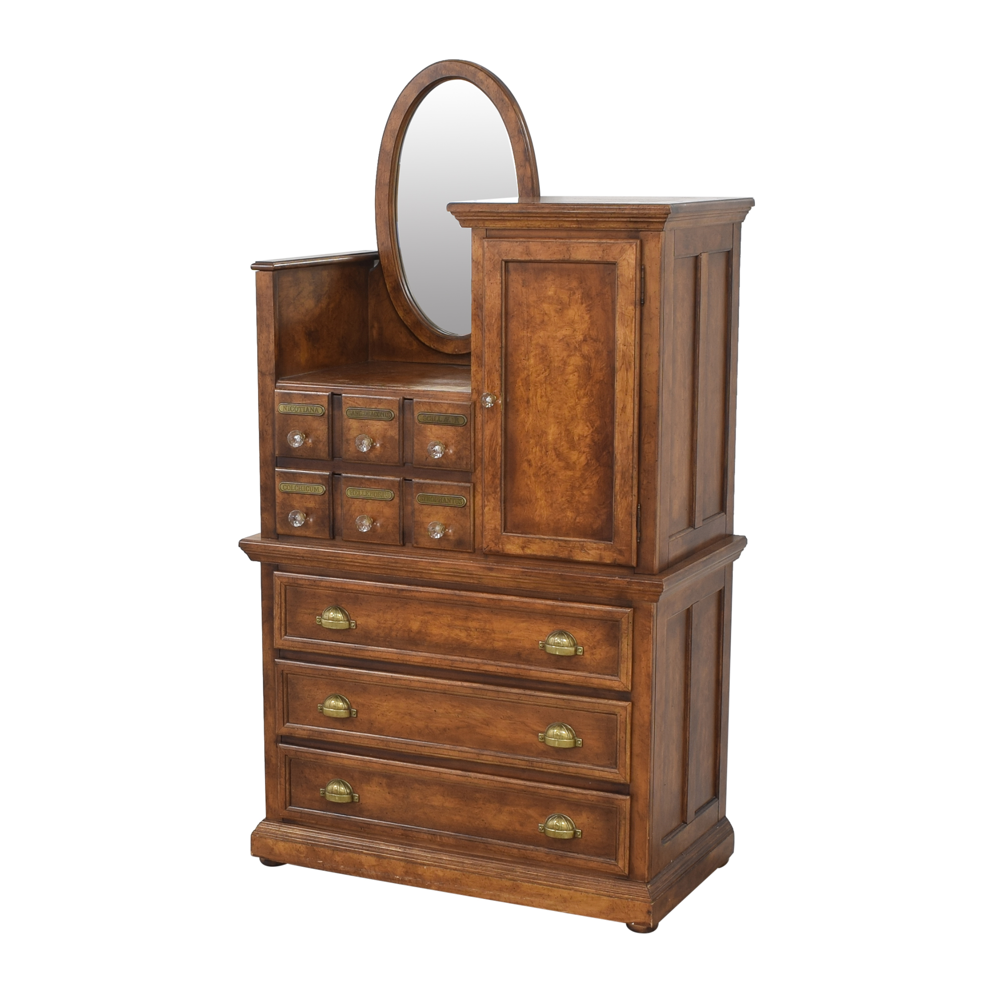 buy Antique Apothecary Wardrobe with Mirror  Dressers