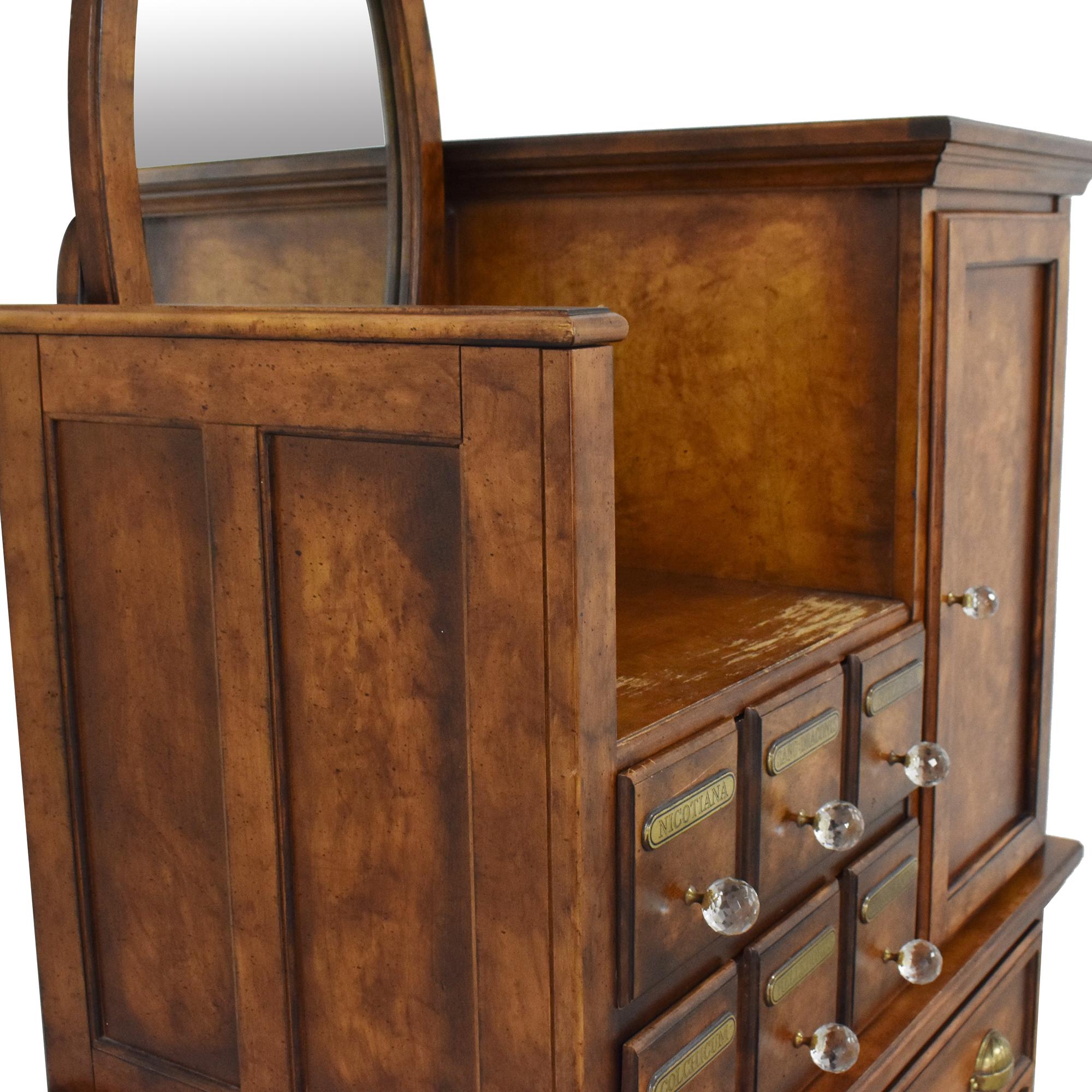 Antique Apothecary Wardrobe with Mirror nj