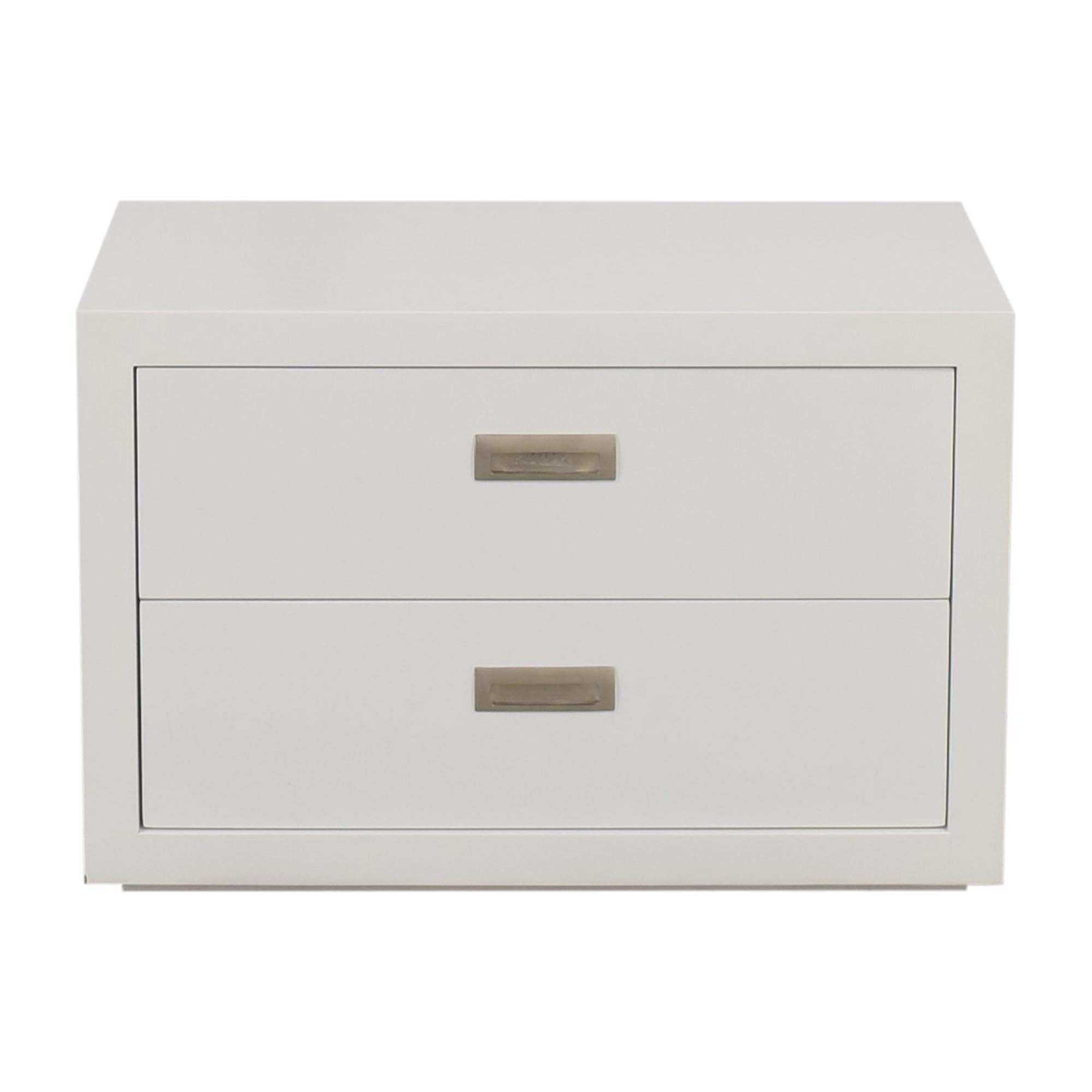 Crate & Barrel Crate & Barrel Aspect Modular 2-Drawer Storage Unit white