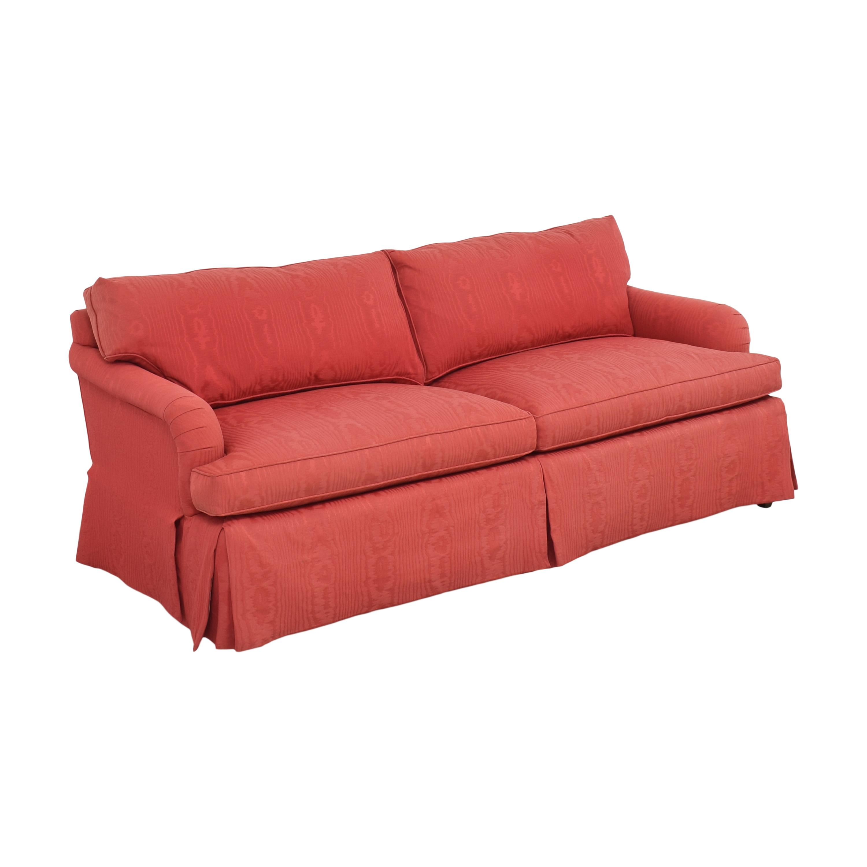 Baker Furniture Baker Two Cushion Skirted Sofa Classic Sofas
