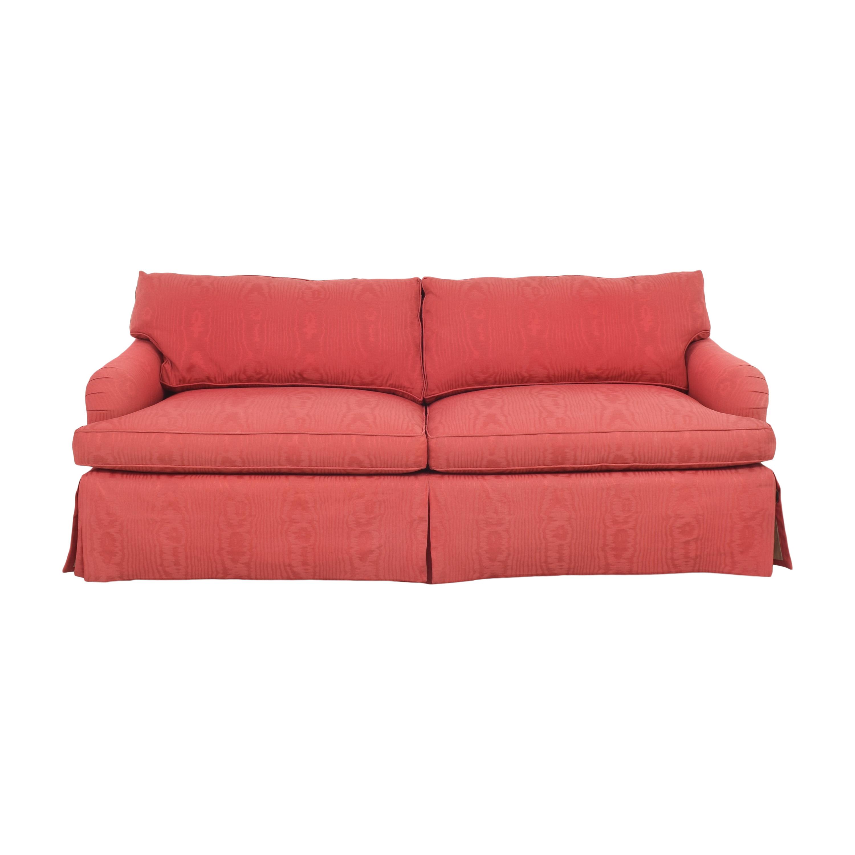 Baker Two Cushion Skirted Sofa Baker Furniture