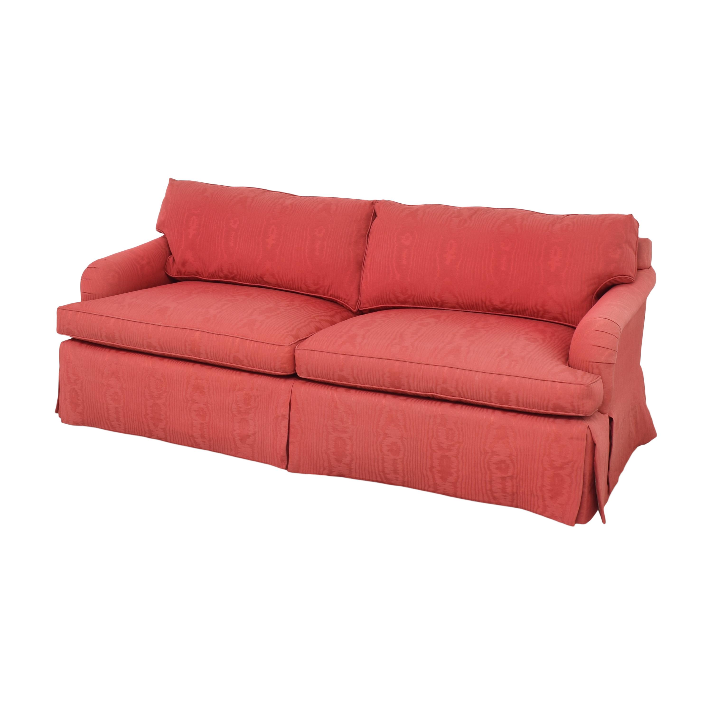 Baker Two Cushion Skirted Sofa sale