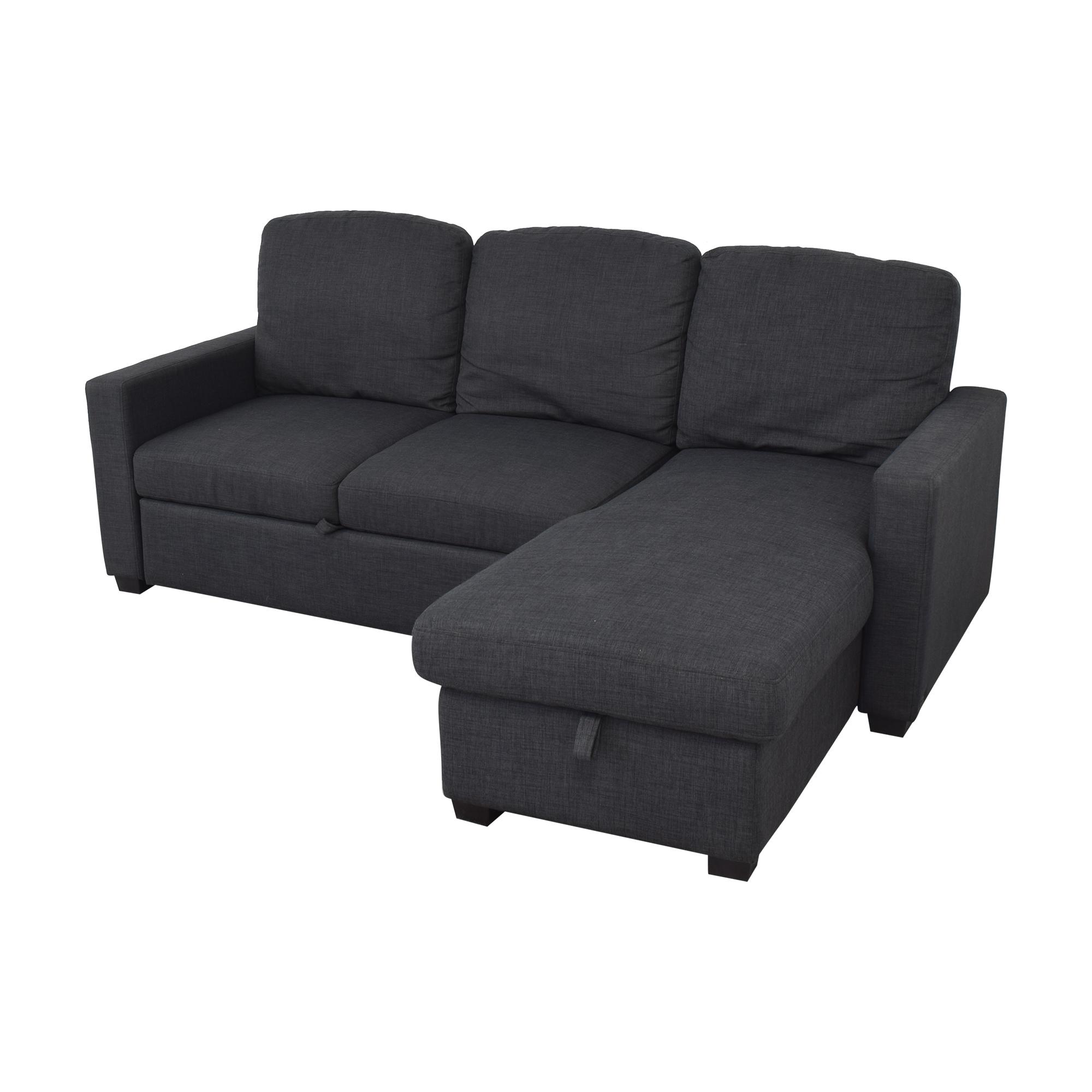 47 OFF   Target Target Newman Sleeper Sectional Sofa / Sofas