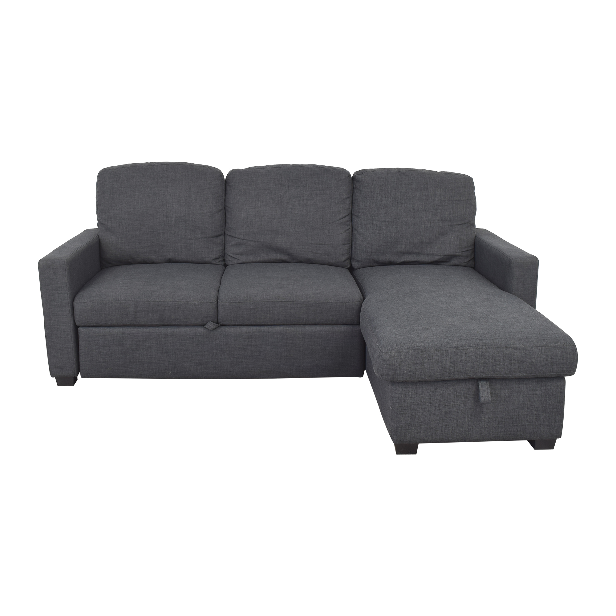 Target Target Newman Sleeper Sectional Sofa dark grey
