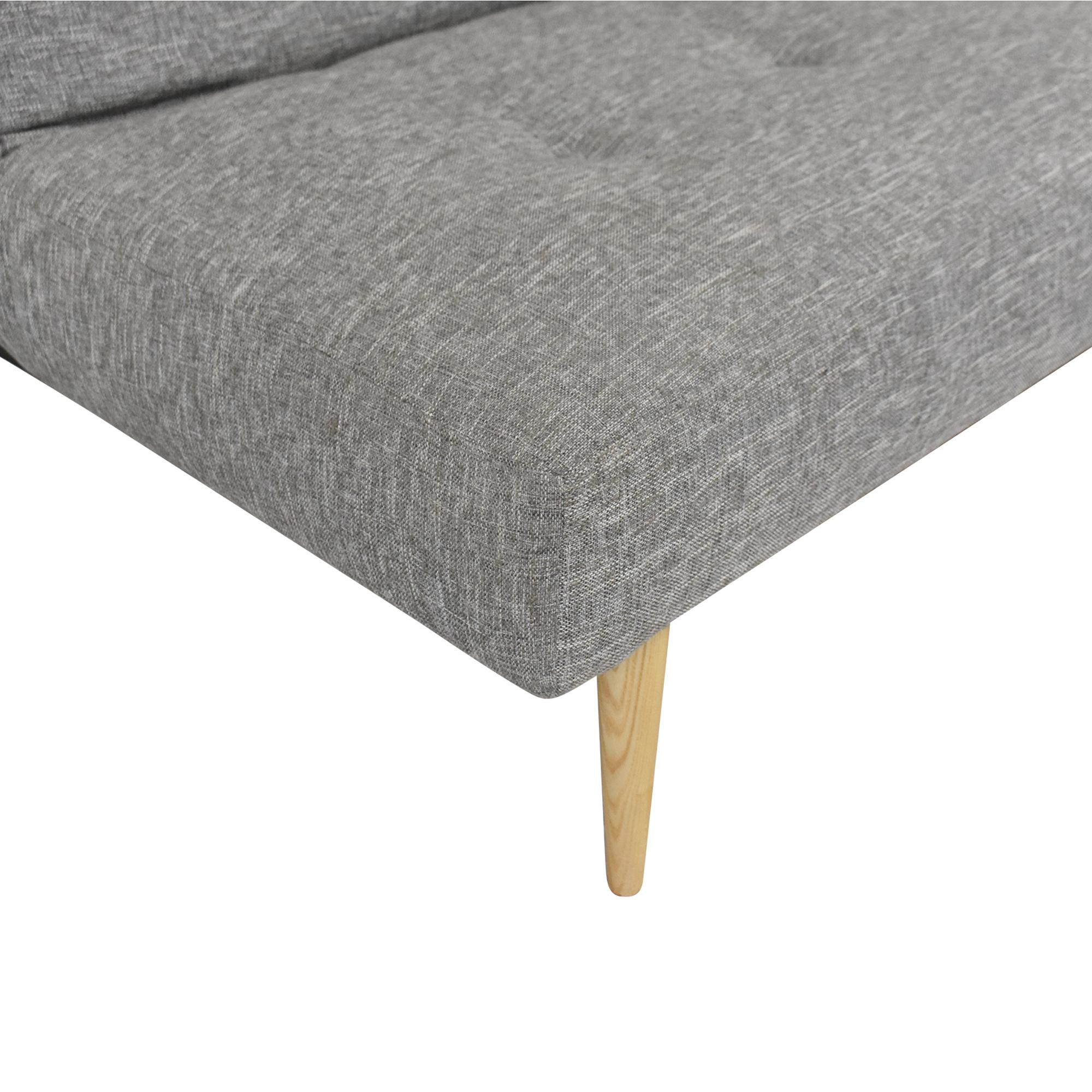 West Elm West Elm Mid-Century Futon Sofa grey