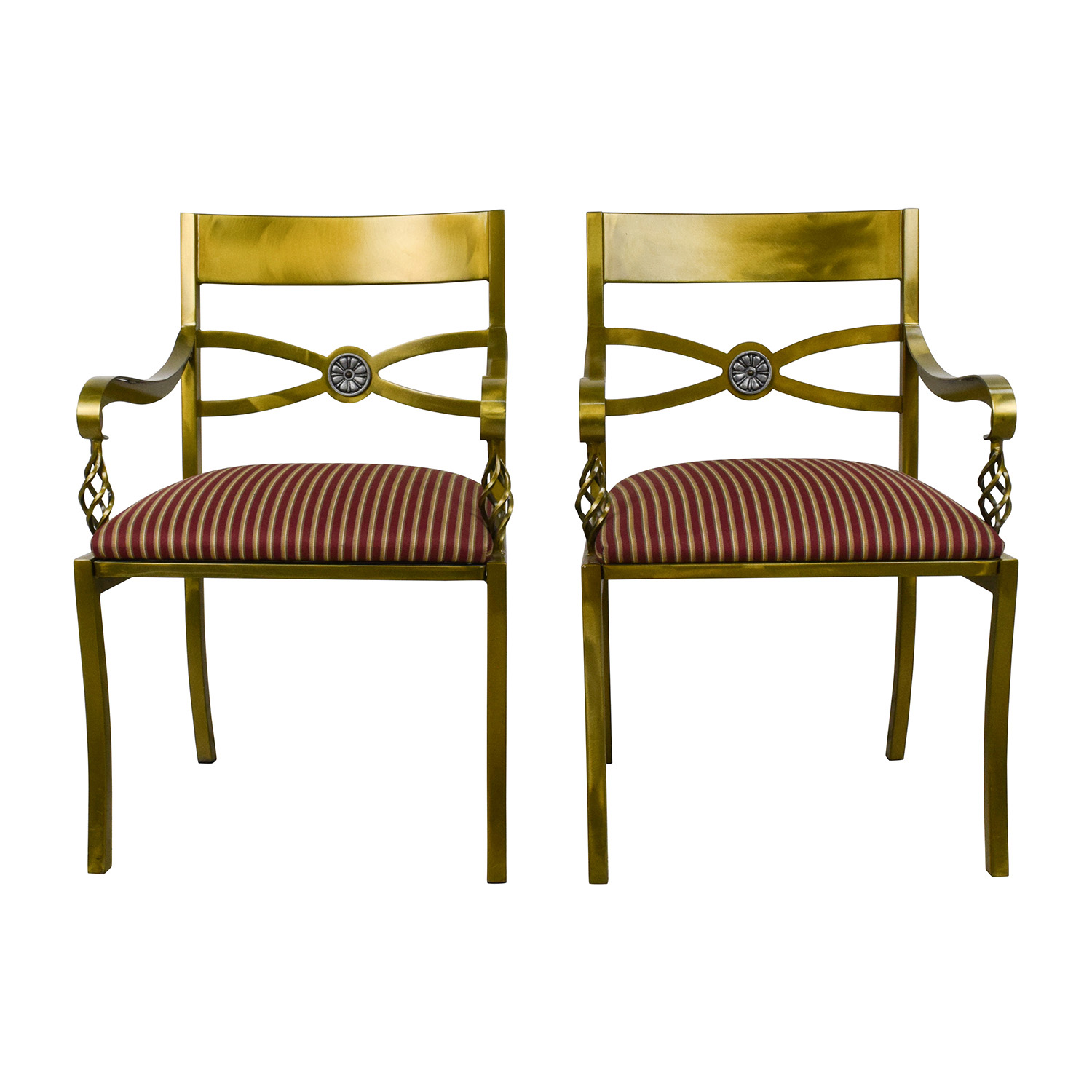 buy Custom Made Antique Gold Wrought Iron Chairs online