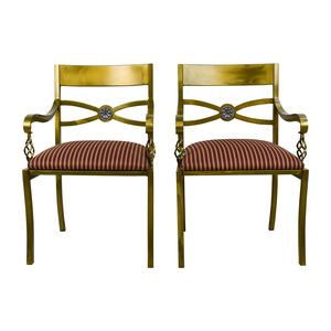 Custom Made Antique Gold Wrought Iron Chairs sale