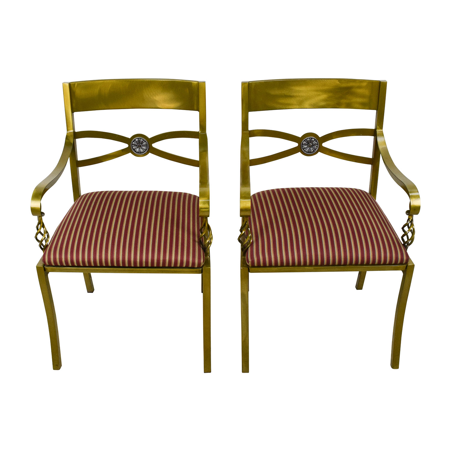 Custom Made Antique Gold Wrought Iron Chairs price