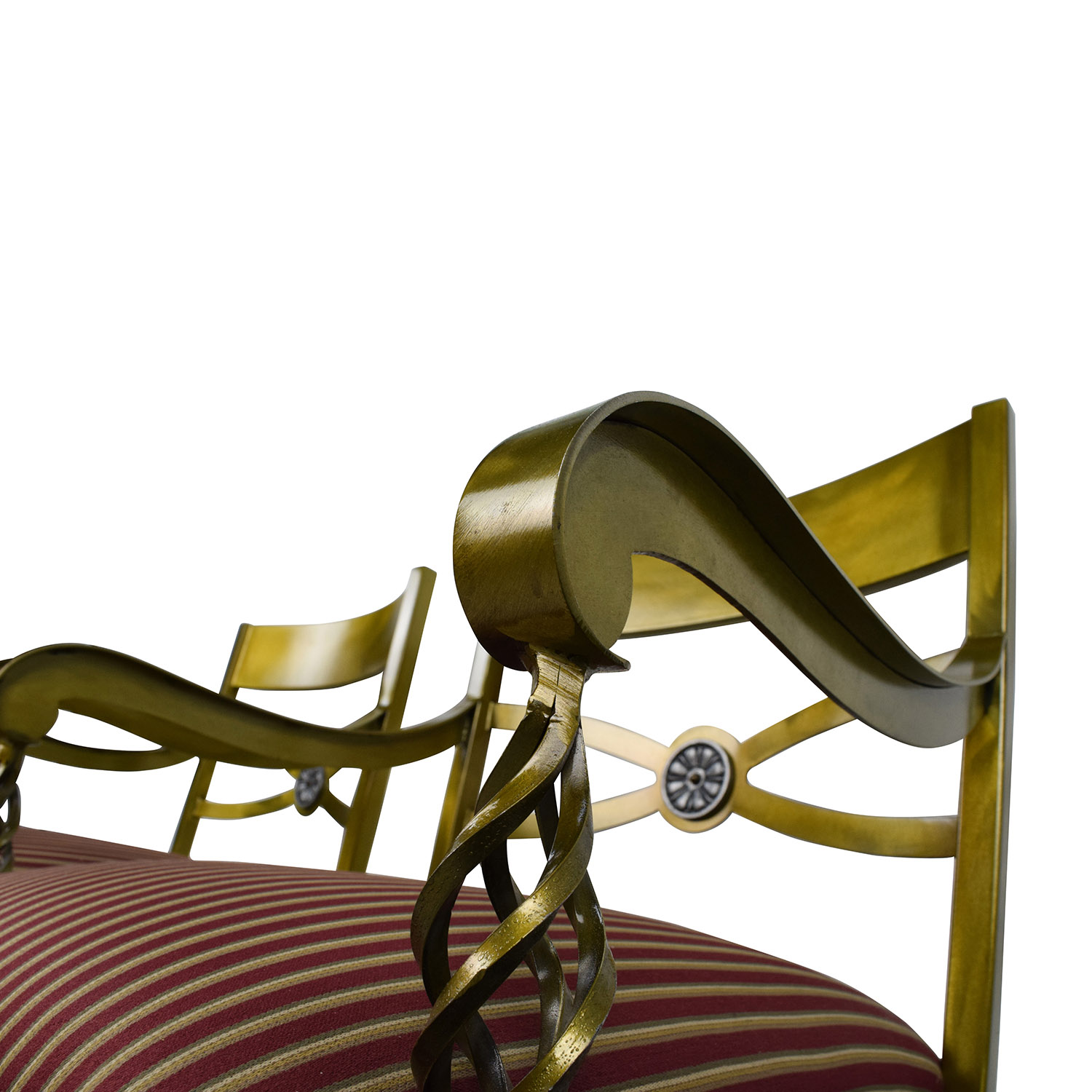 Custom Made Antique Gold Wrought Iron Chairs