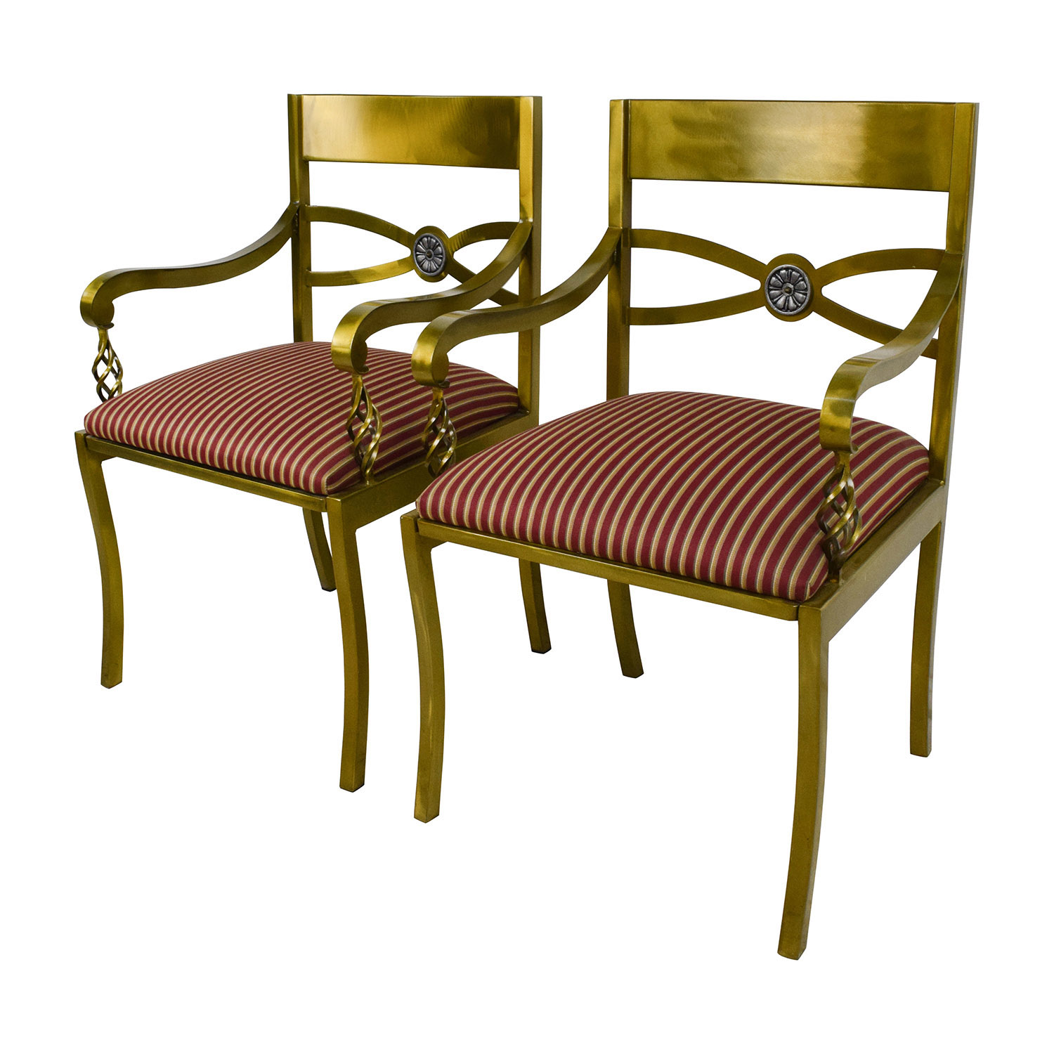 89 off custom made antique gold wrought iron chairs for Wrought iron furniture