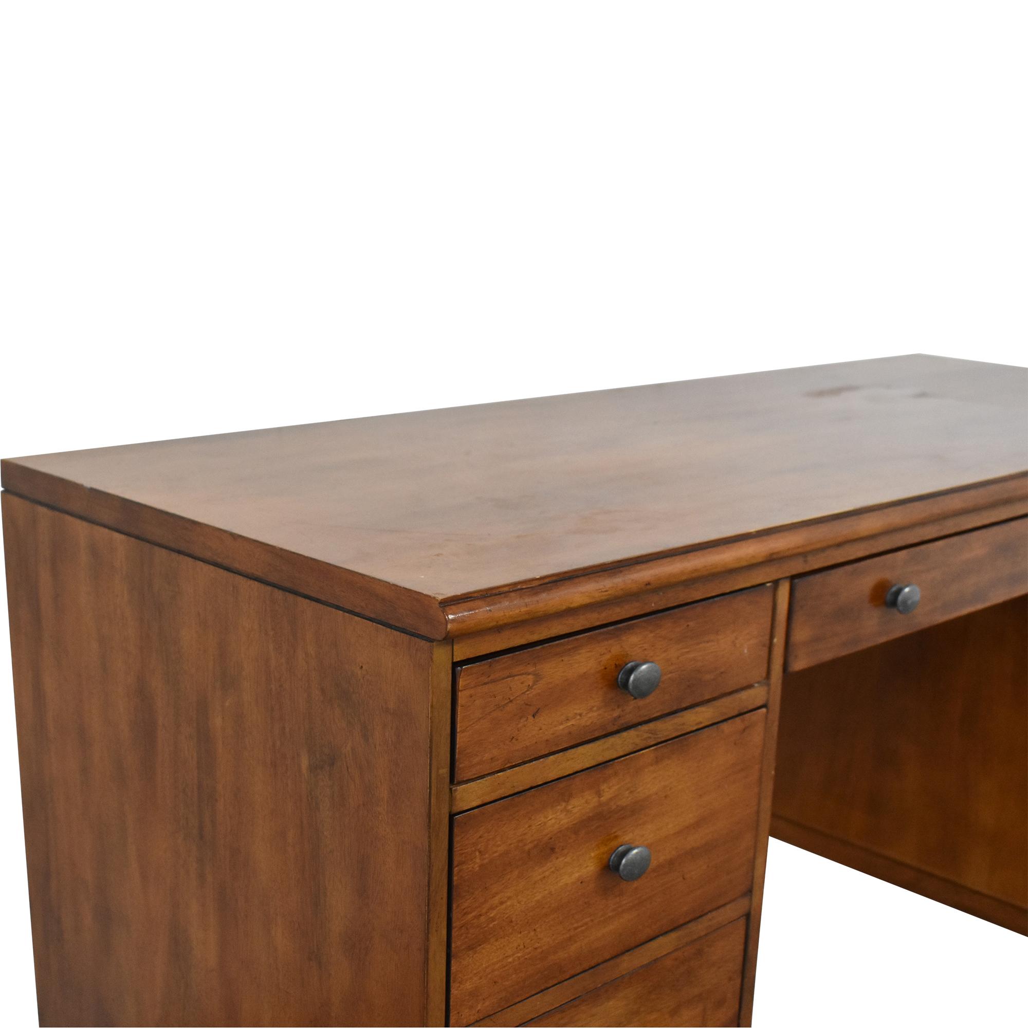 Ethan Allen Ethan Allen Hawke Double Pedestal Desk dimensions