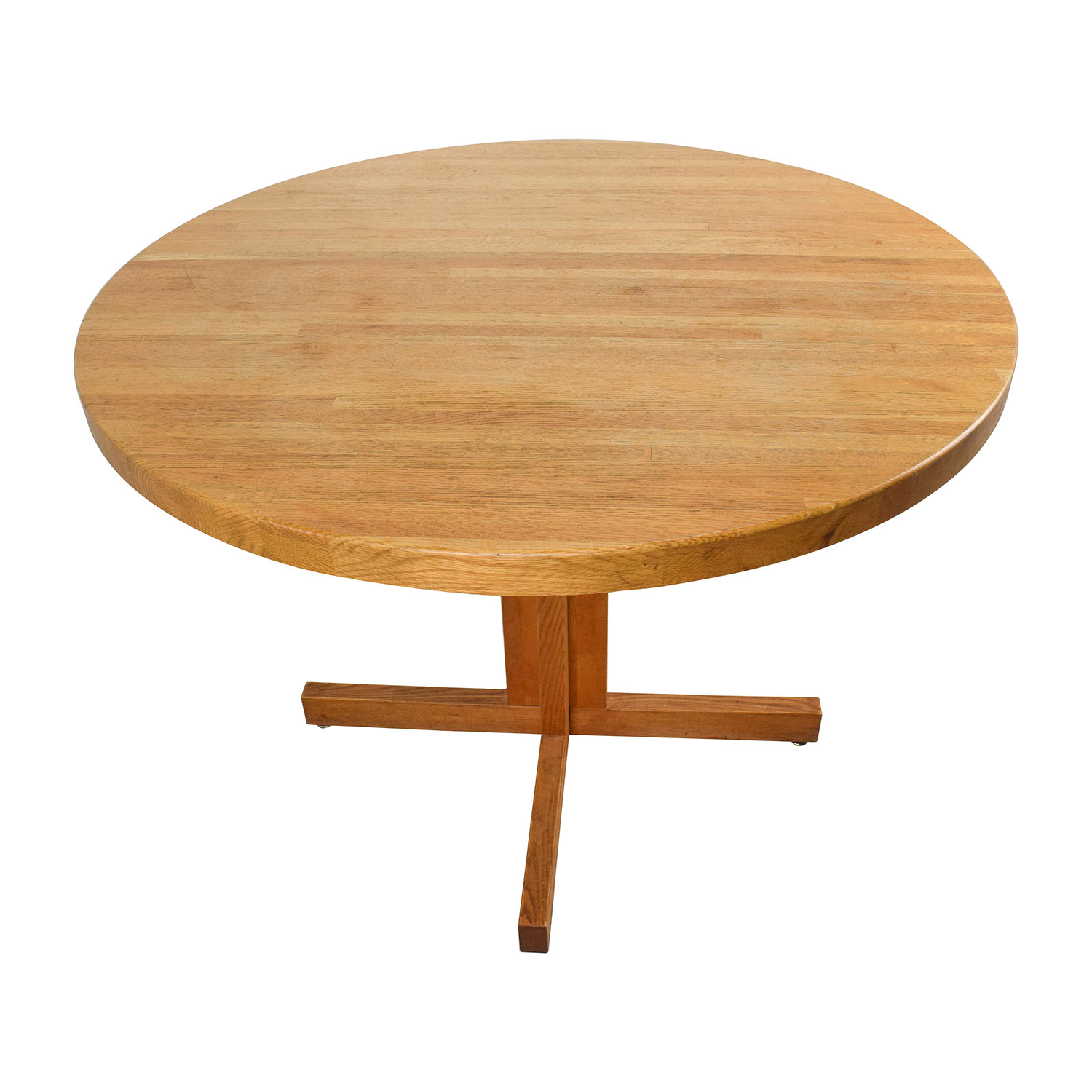 90 off solid oak round table tables for Buy round table
