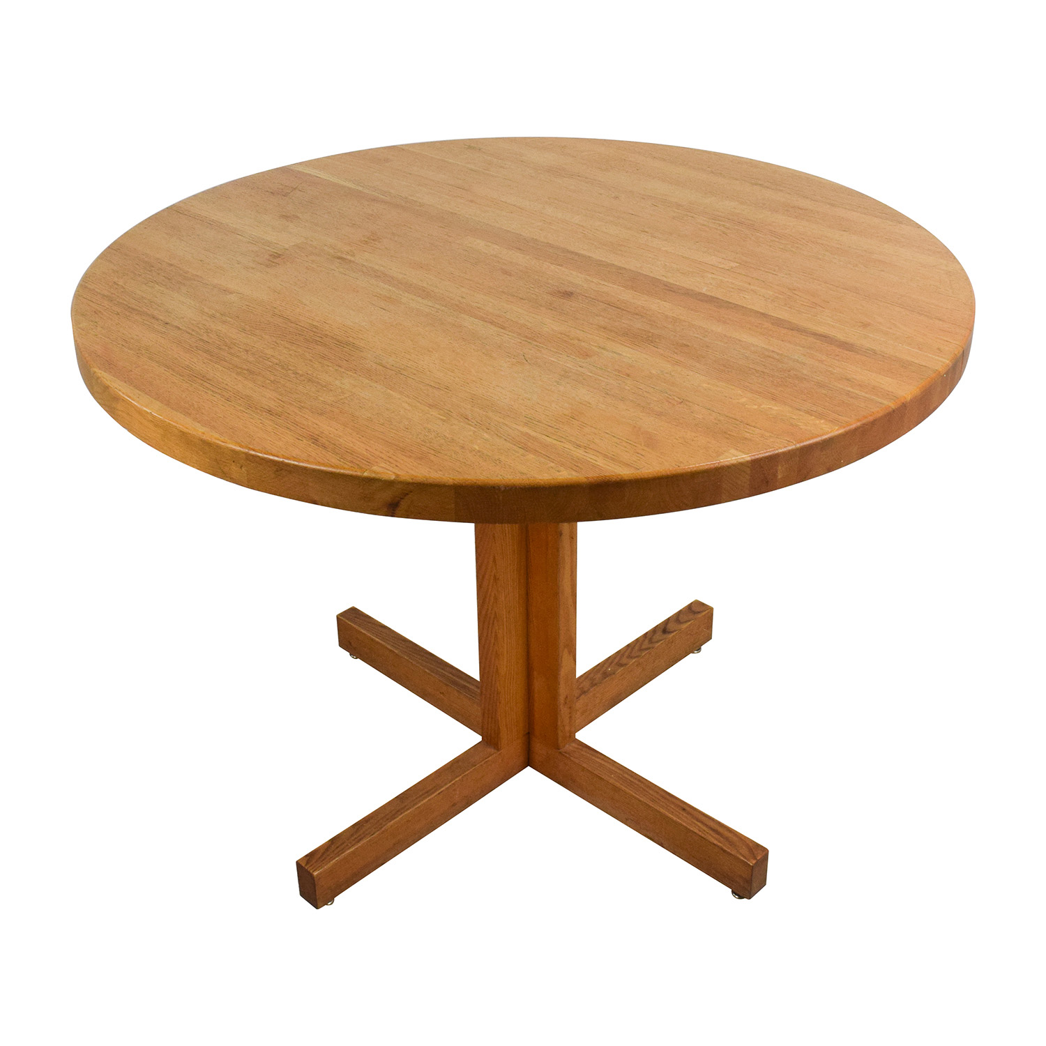 Attrayant 90% OFF   Solid Oak Round Table / Tables