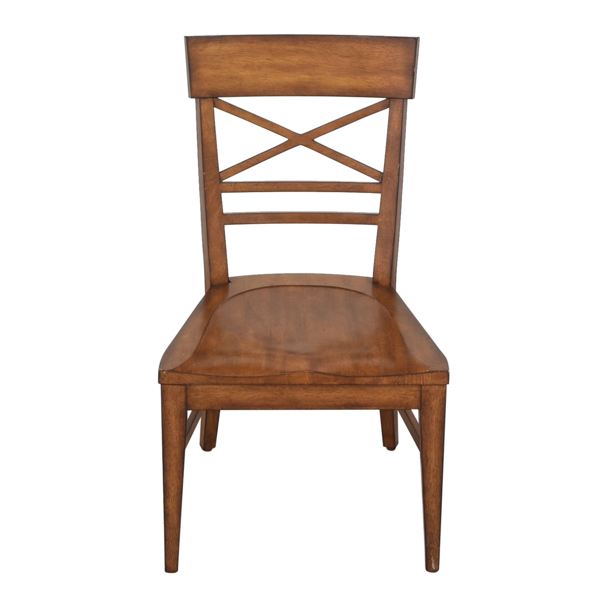 Ethan Allen Ethan Allen Blake Wood-Seat Side Chair Home Office Chairs