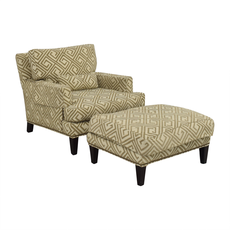 buy Safavieh Safavieh Geometric Pattern Club Chair with Ottoman online