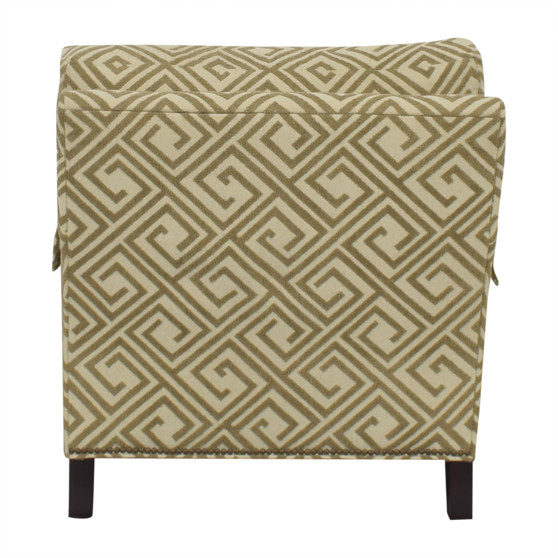 shop Safavieh Geometric Pattern Club Chair with Ottoman Safavieh