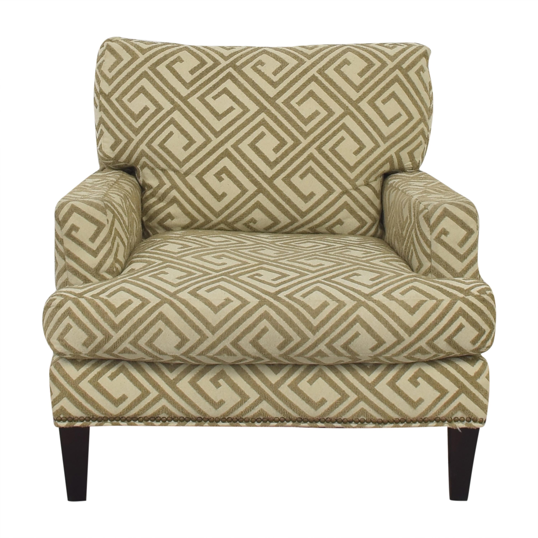Safavieh Geometric Pattern Club Chair with Ottoman sale