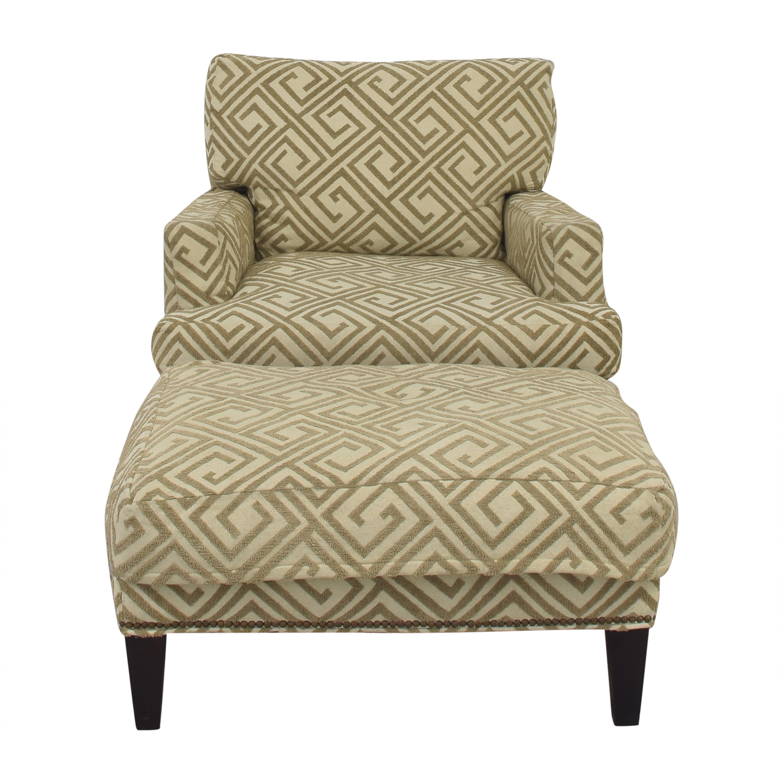 Safavieh Safavieh Geometric Pattern Club Chair with Ottoman nyc