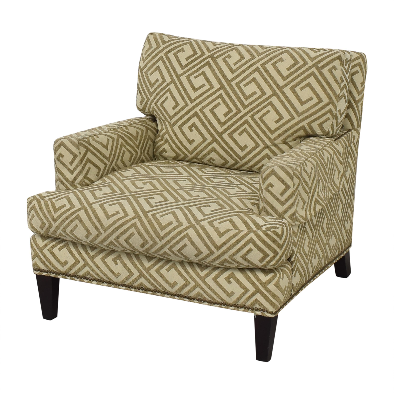 Safavieh Safavieh Geometric Pattern Club Chair with Ottoman beige
