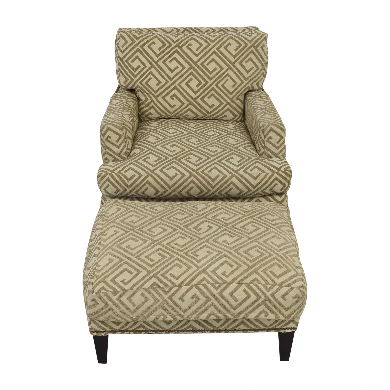Safavieh Safavieh Geometric Pattern Club Chair with Ottoman for sale