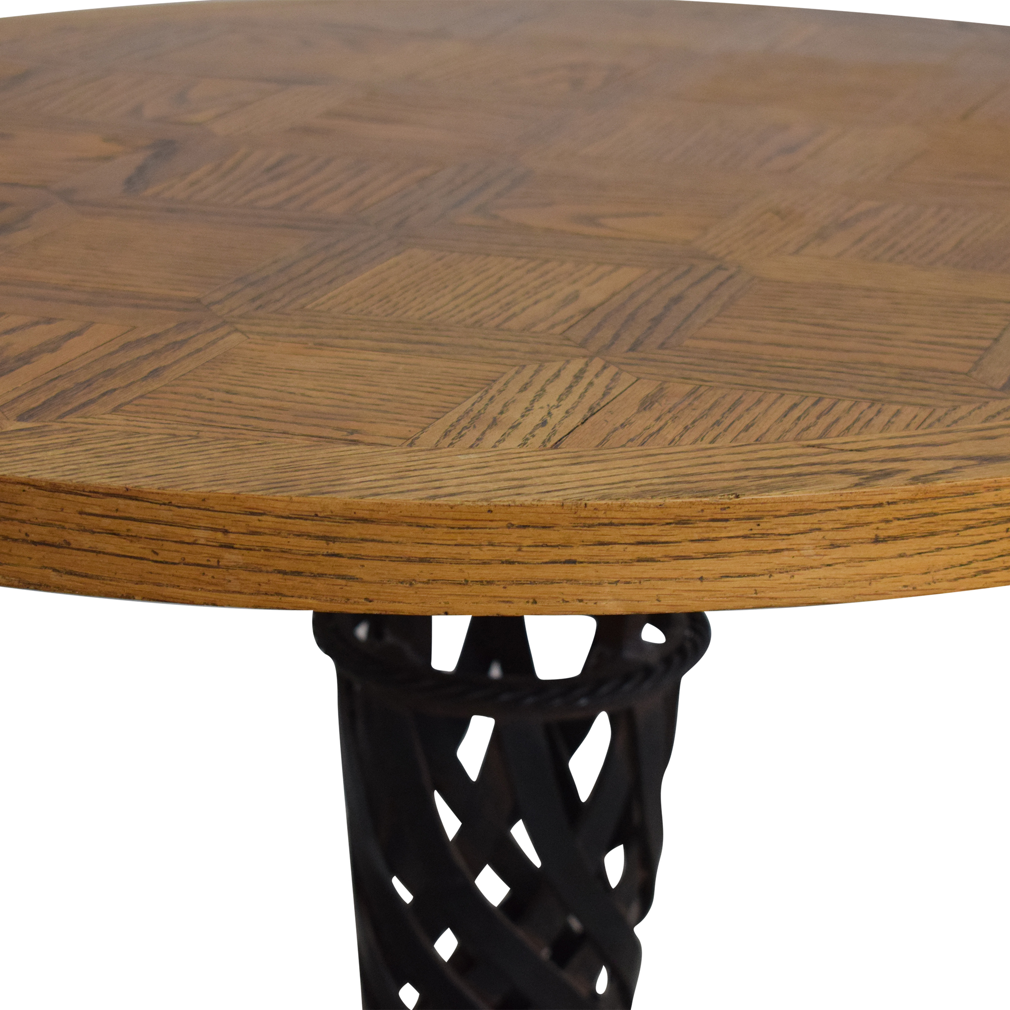 Parquet Round Table used