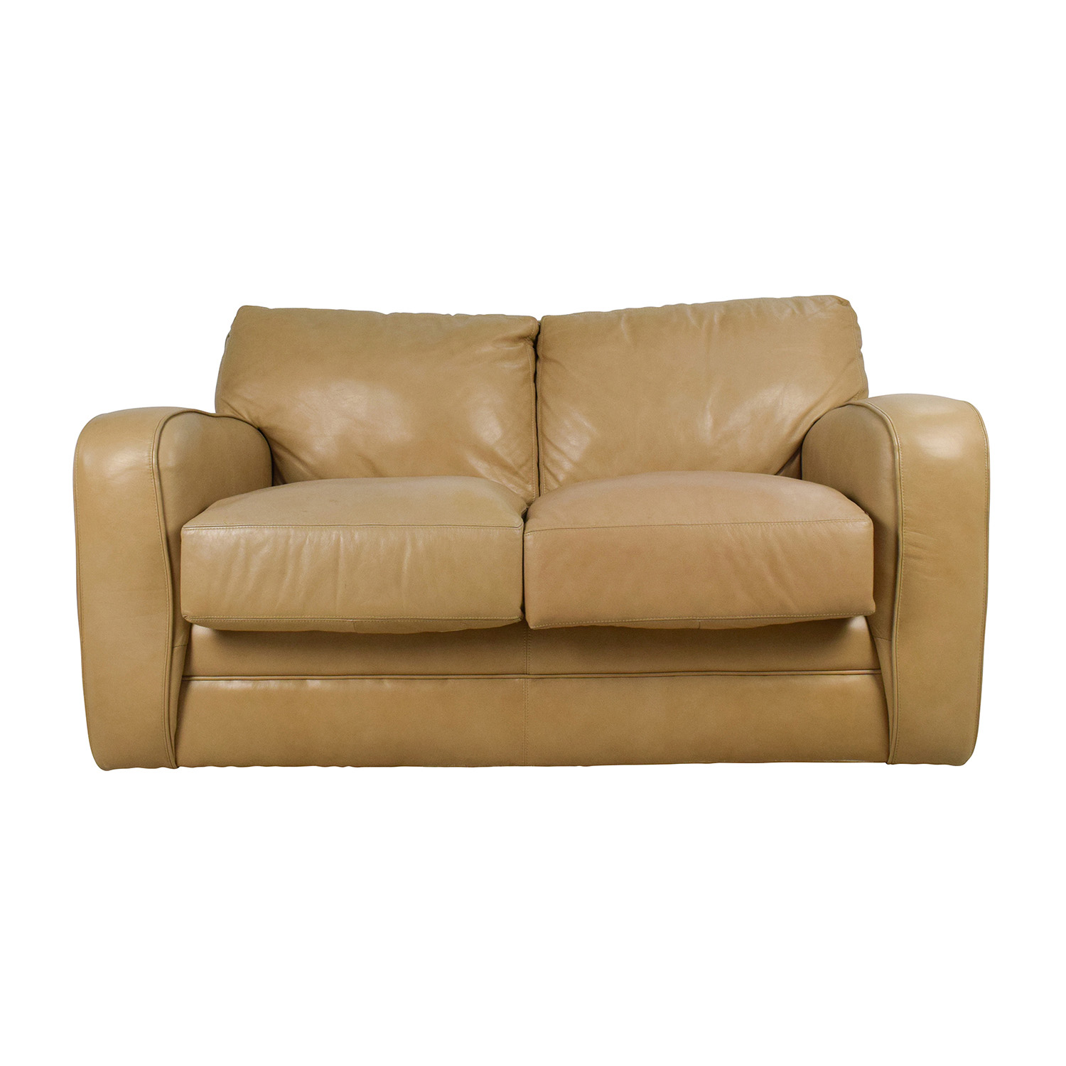 50 off beige leather loveseat sofas Sofa loveseat