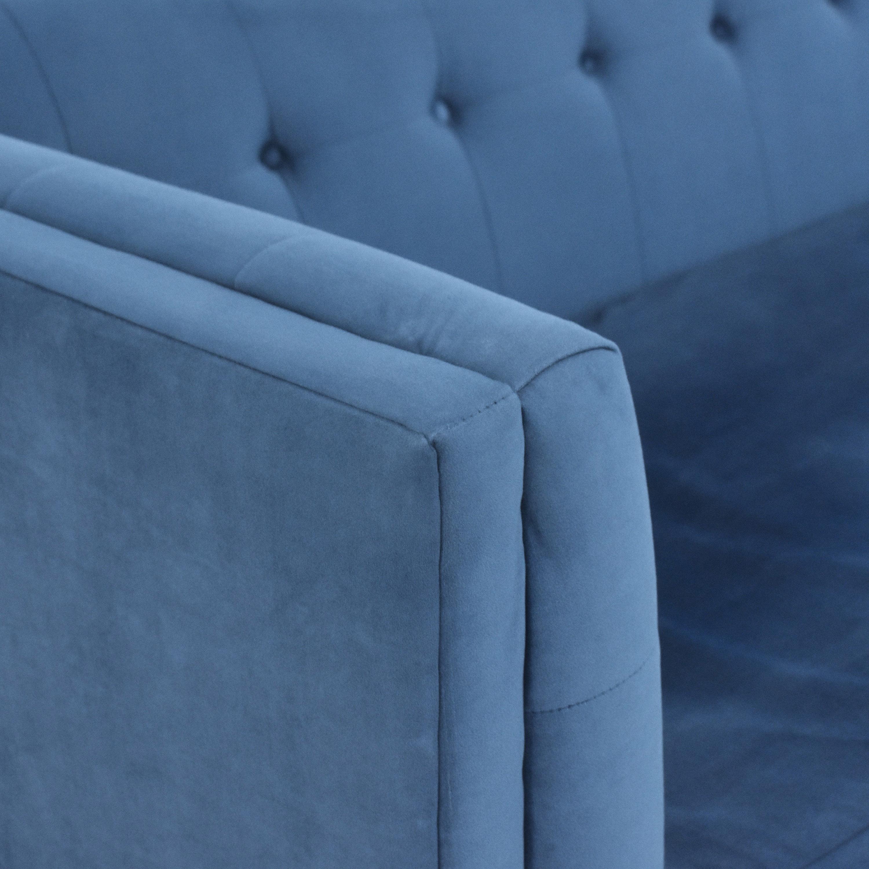 West Elm West Elm Bradford Bench Cushion Sofa blue