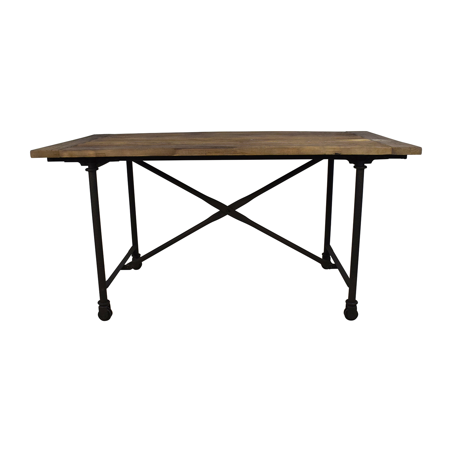 Restoration Hardware Restoration Hardware Reclaimed Natural Elm Dining Table Brown