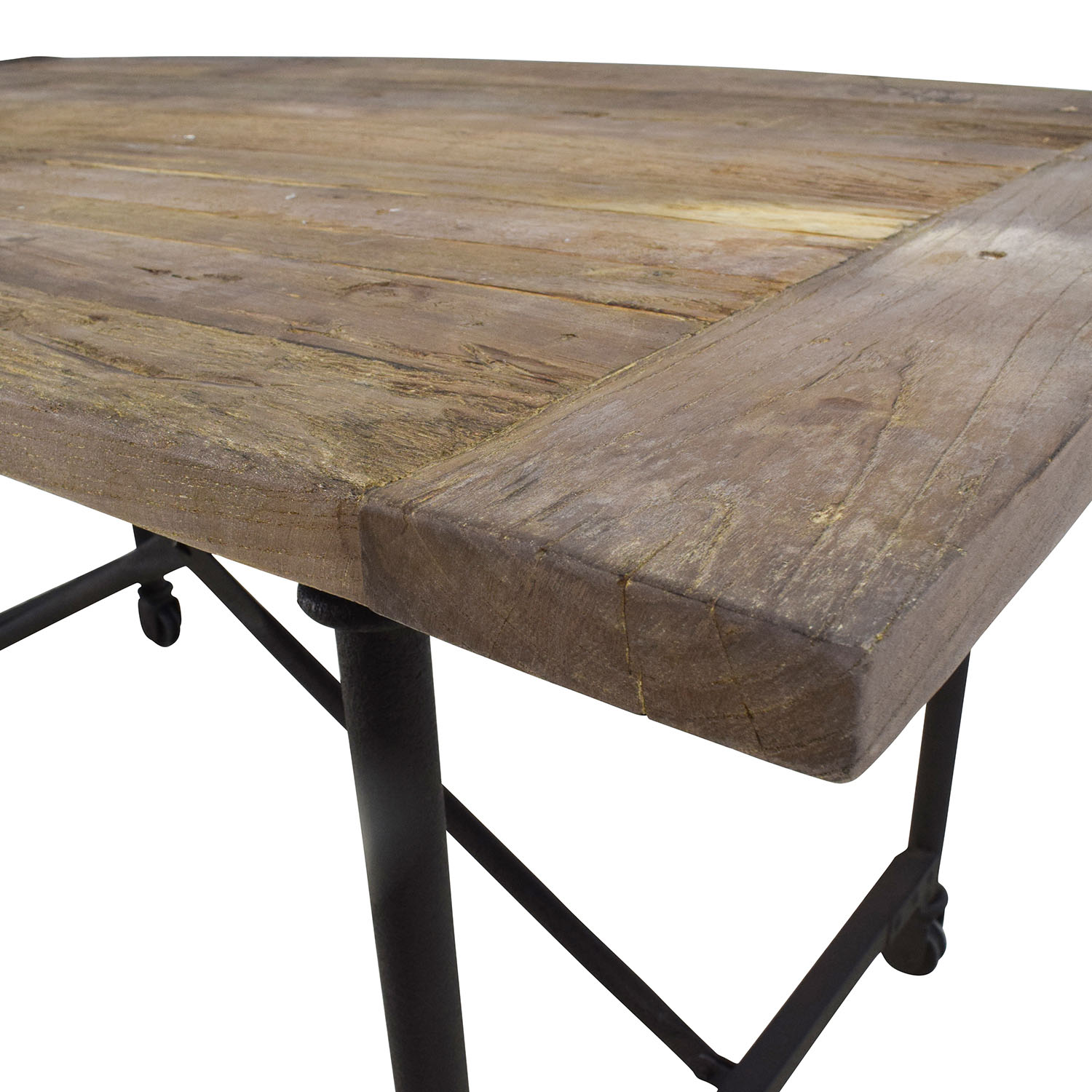 ... Restoration Hardware Restoration Hardware Reclaimed Natural Elm Dining Table  Used Part 10