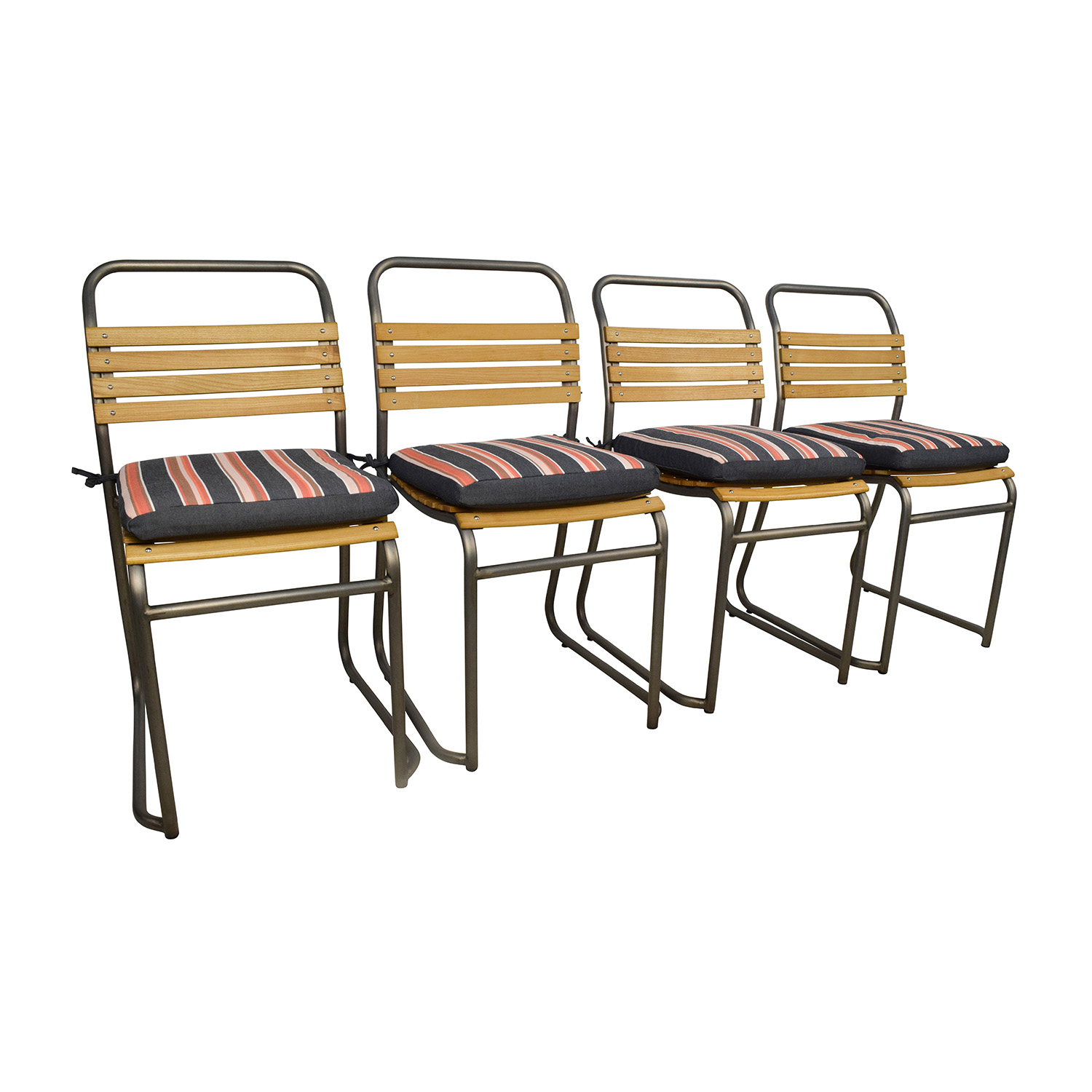 ... Restoration Hardware 1930 Belgian Wood Stackable Dining Side Chairs /  Chairs ...