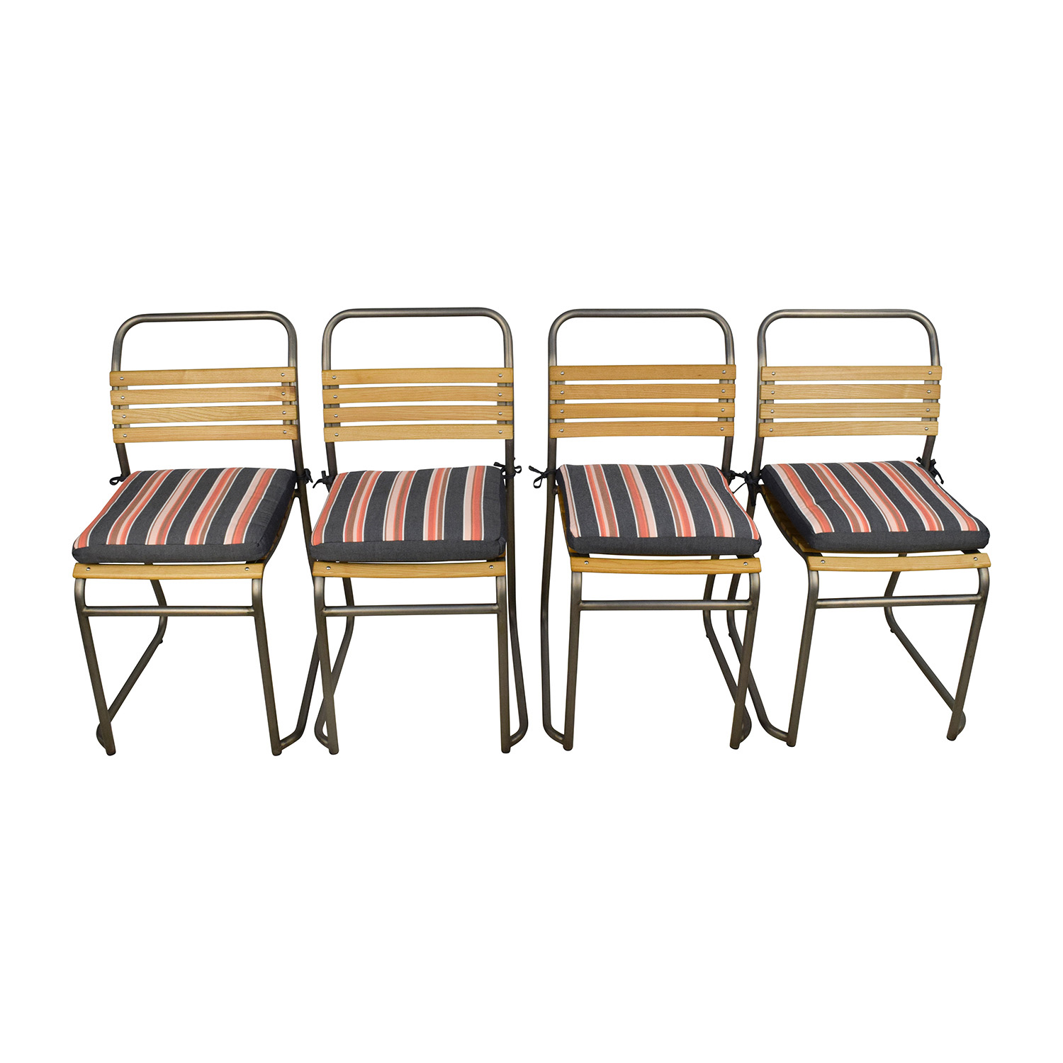 Restoration Hardware 1930 Belgian Wood Stackable Dining Side Chairs Sale Part 46
