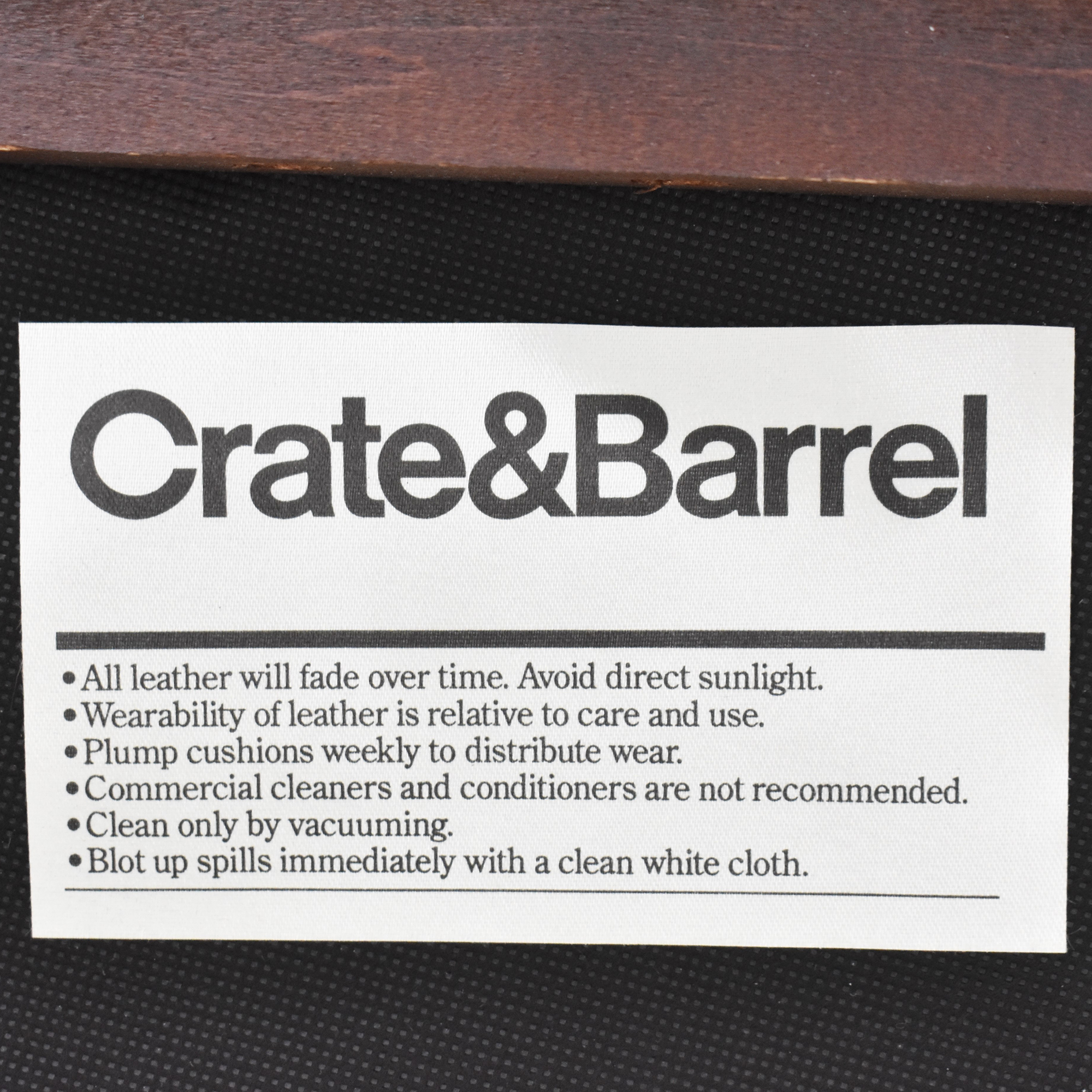 Crate & Barrel Crate & Barrel Broadway Ottoman used