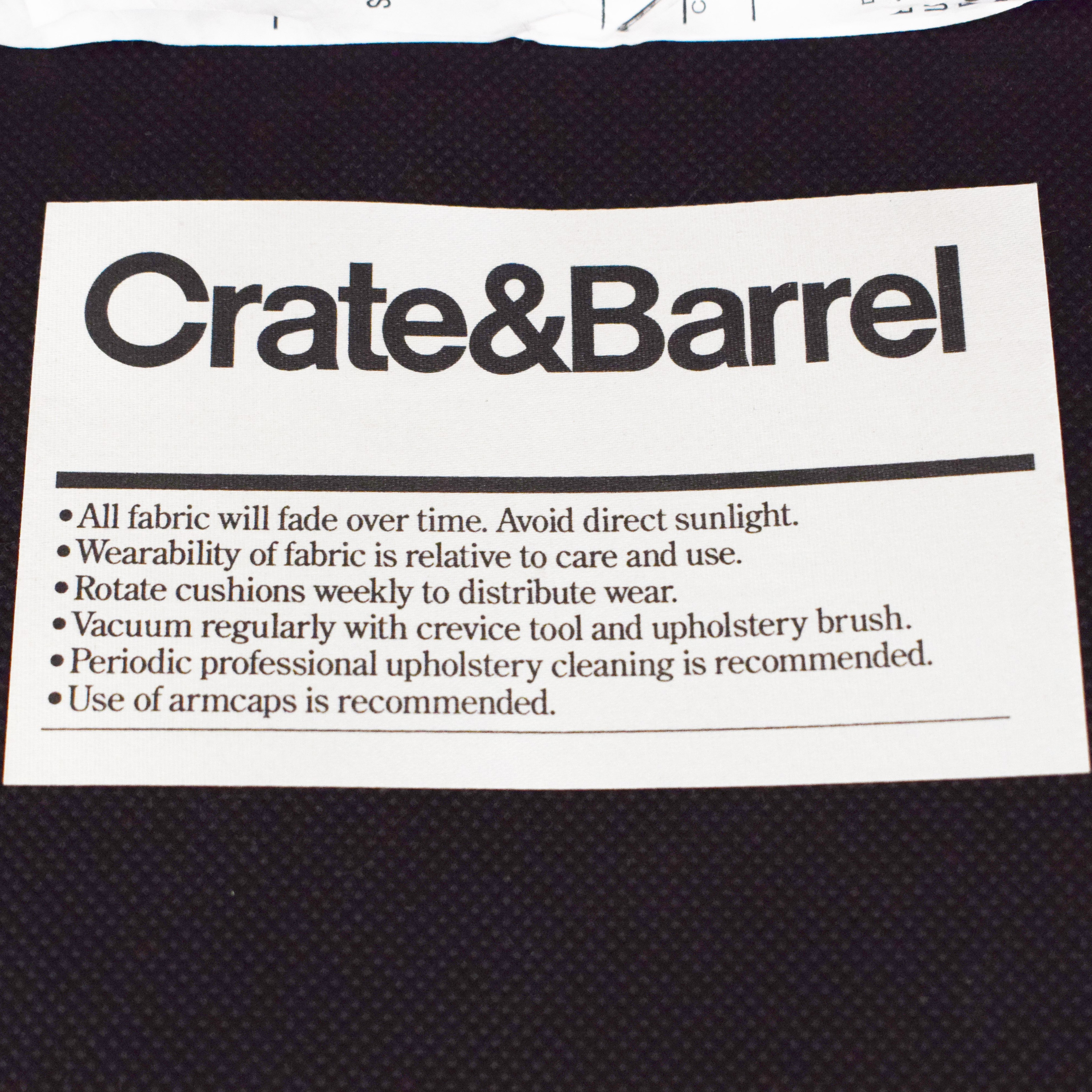 Crate & Barrel Crate & Barrel Lounge II Storage Ottoman with Casters on sale