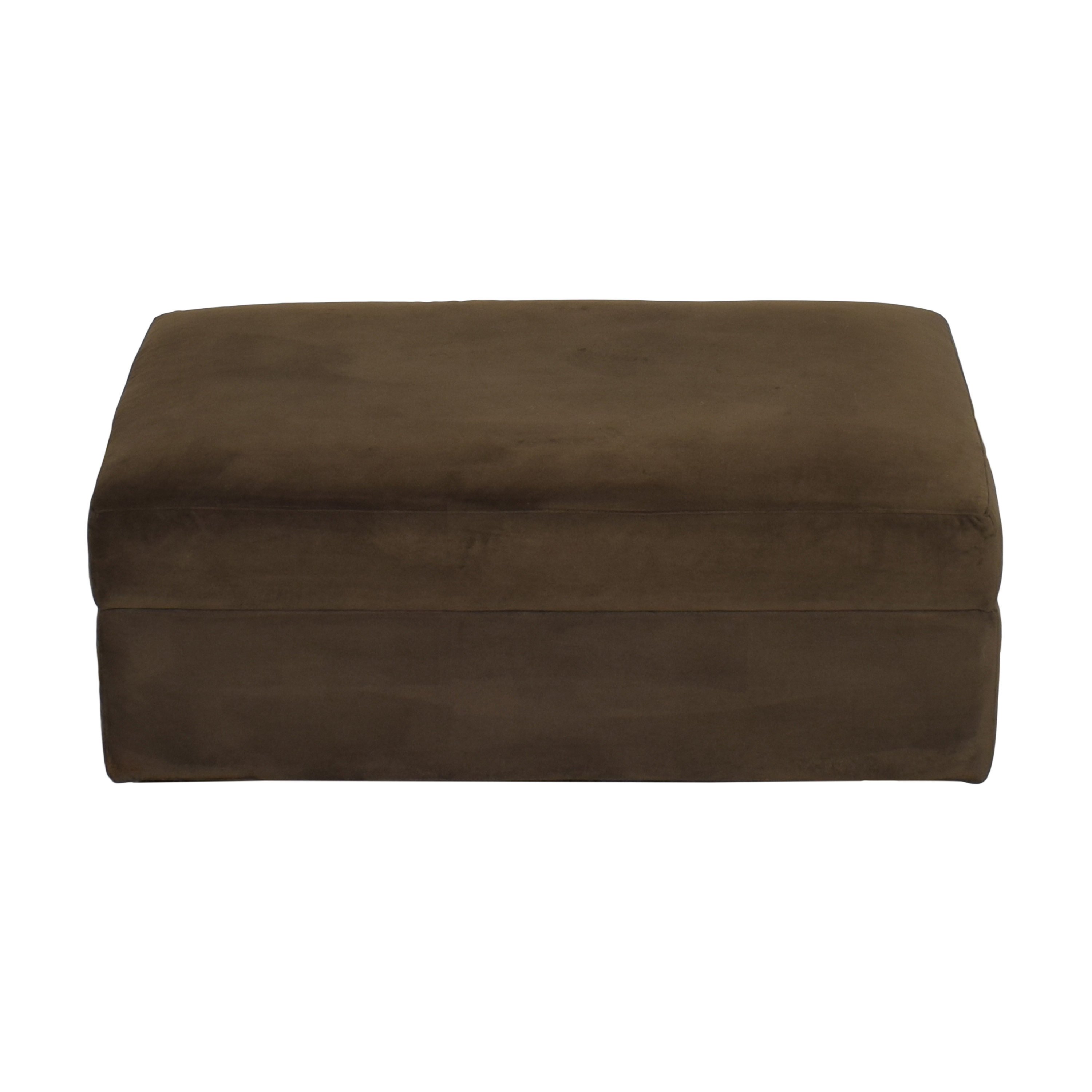 Crate & Barrel Crate & Barrel Lounge II Storage Ottoman with Casters brown