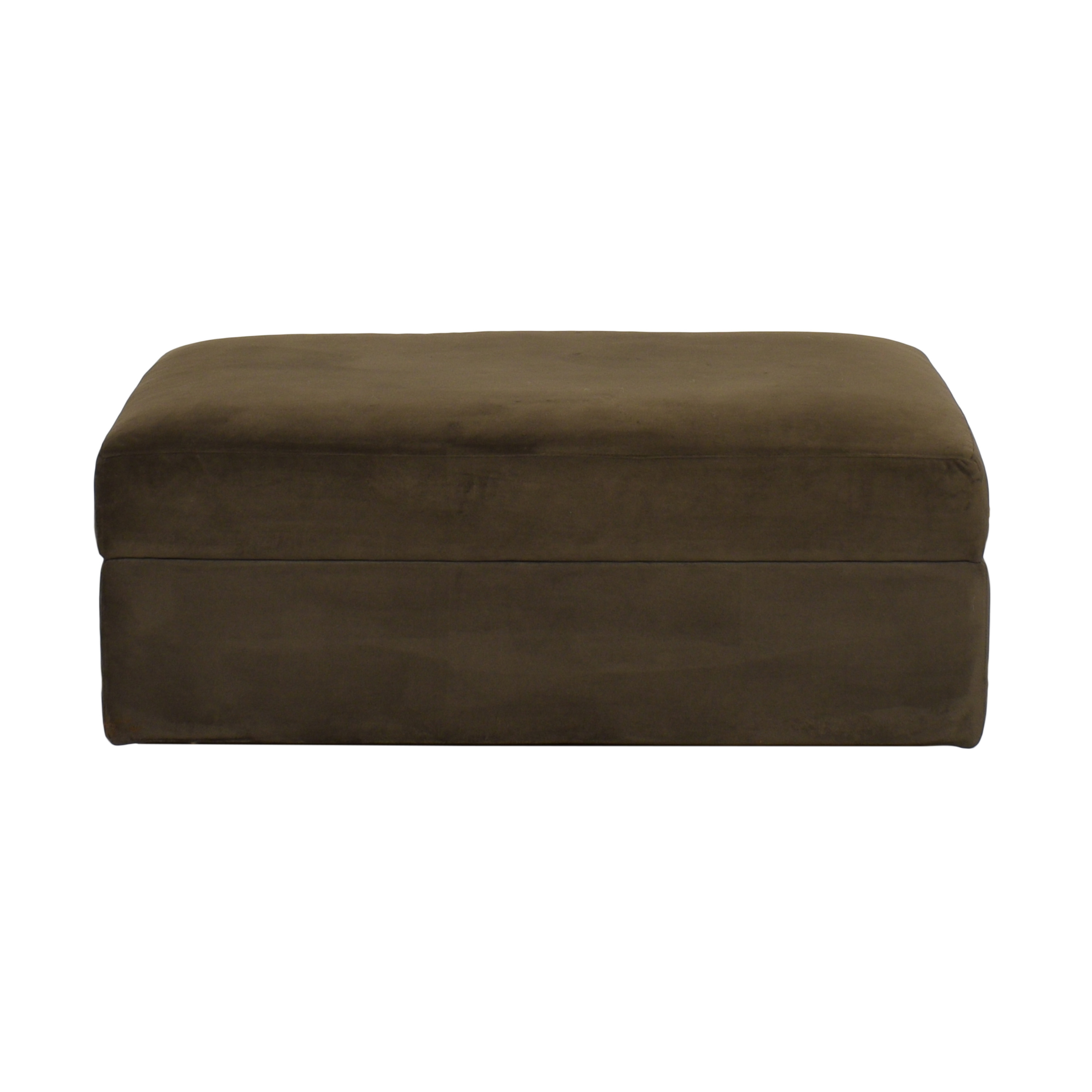 Crate & Barrel Crate & Barrel Lounge II Storage Ottoman with Casters price
