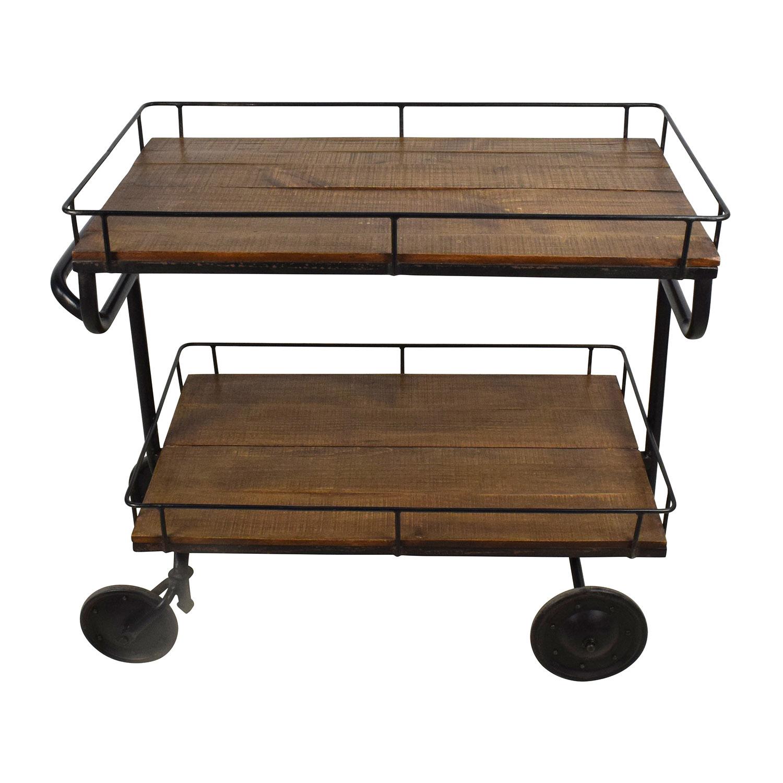 buy Restoration Hardware Warehouse Trolly Bar Cart Restoration Hardware