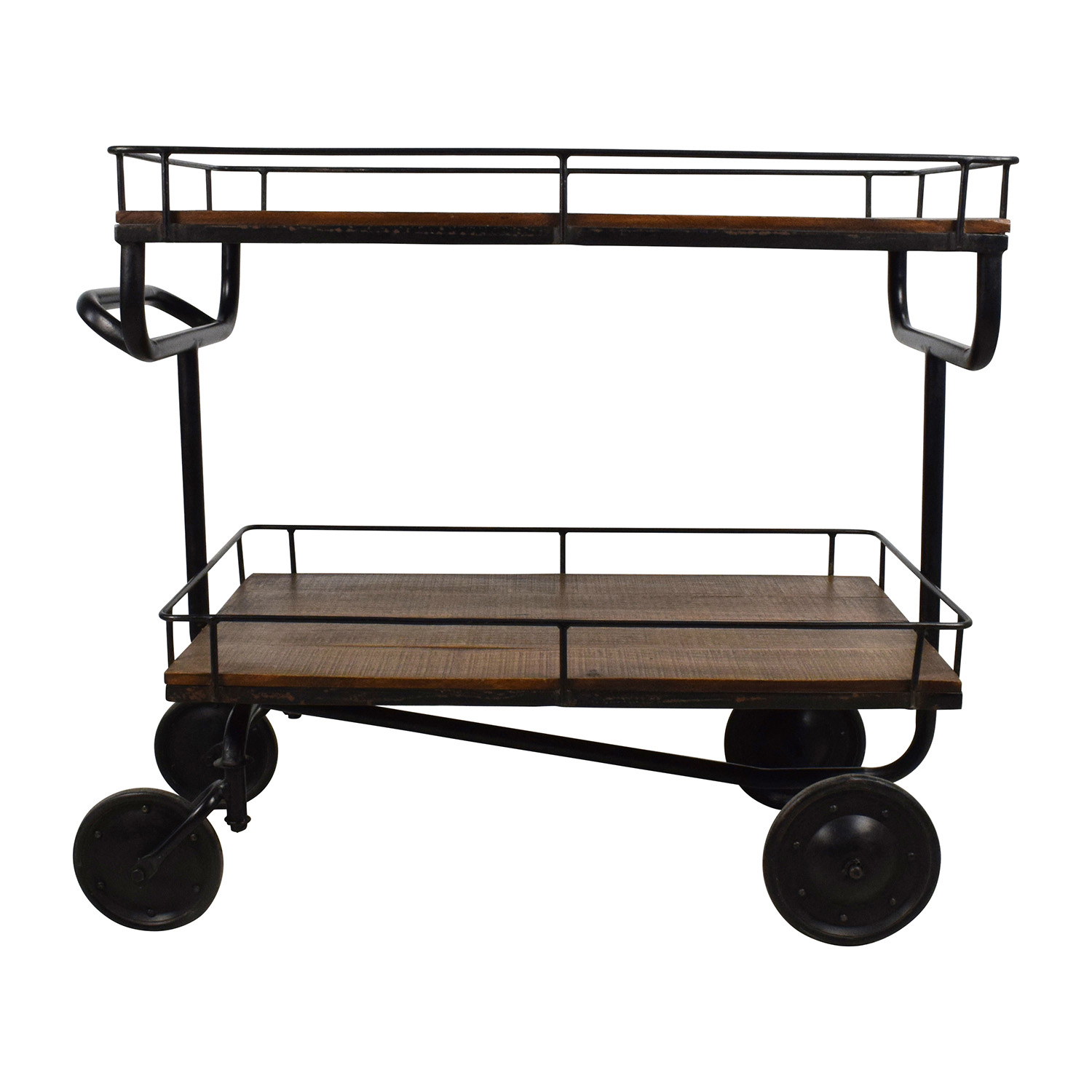 Restoration Hardware Restoration Hardware Warehouse Trolly Bar Cart dimensions