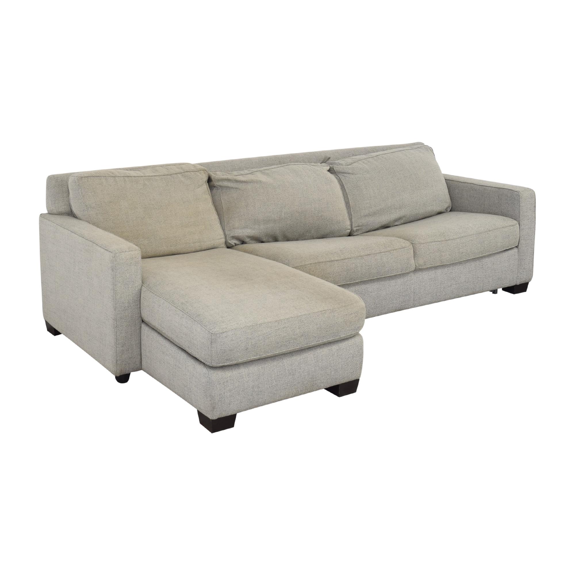 shop West Elm West Elm Henry 2-Piece Full Sleeper Storage Sofa online