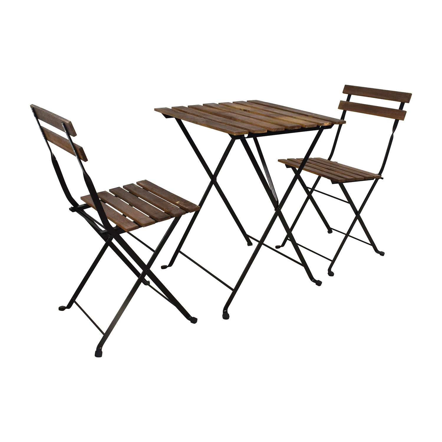 IKEA IKEA Tarno Folding Table and Two Folding Chairs for sale