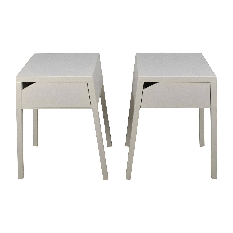 IKEA SELJE White Night Table Set / End Tables