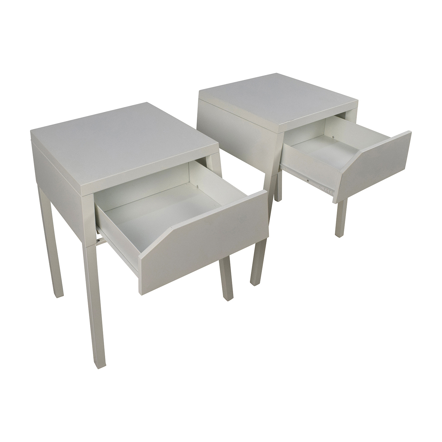 48% OFF Ikea IKEA SELJE White Night Table Set Tables