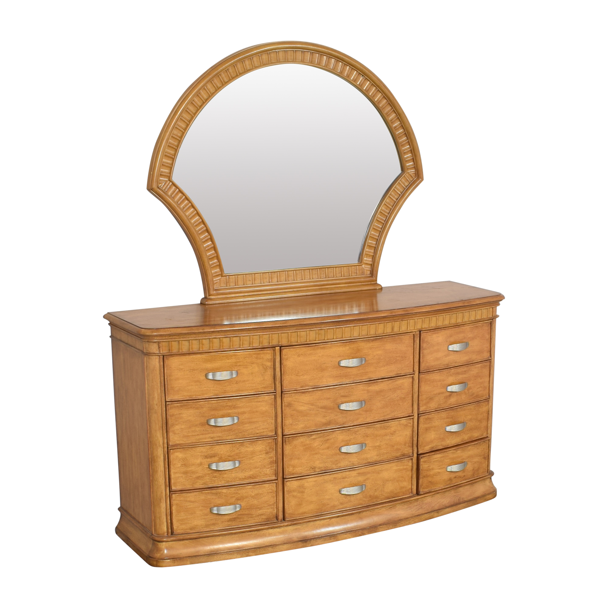 Triple Dresser Vanity with Mirror Dressers