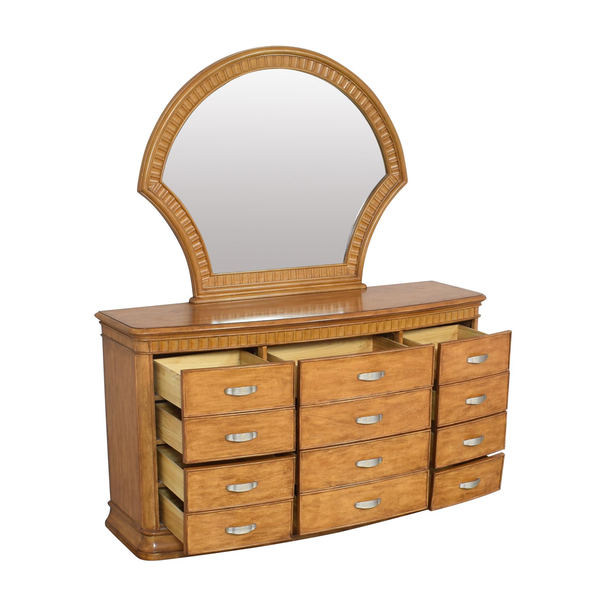 shop Triple Dresser Vanity with Mirror  Dressers
