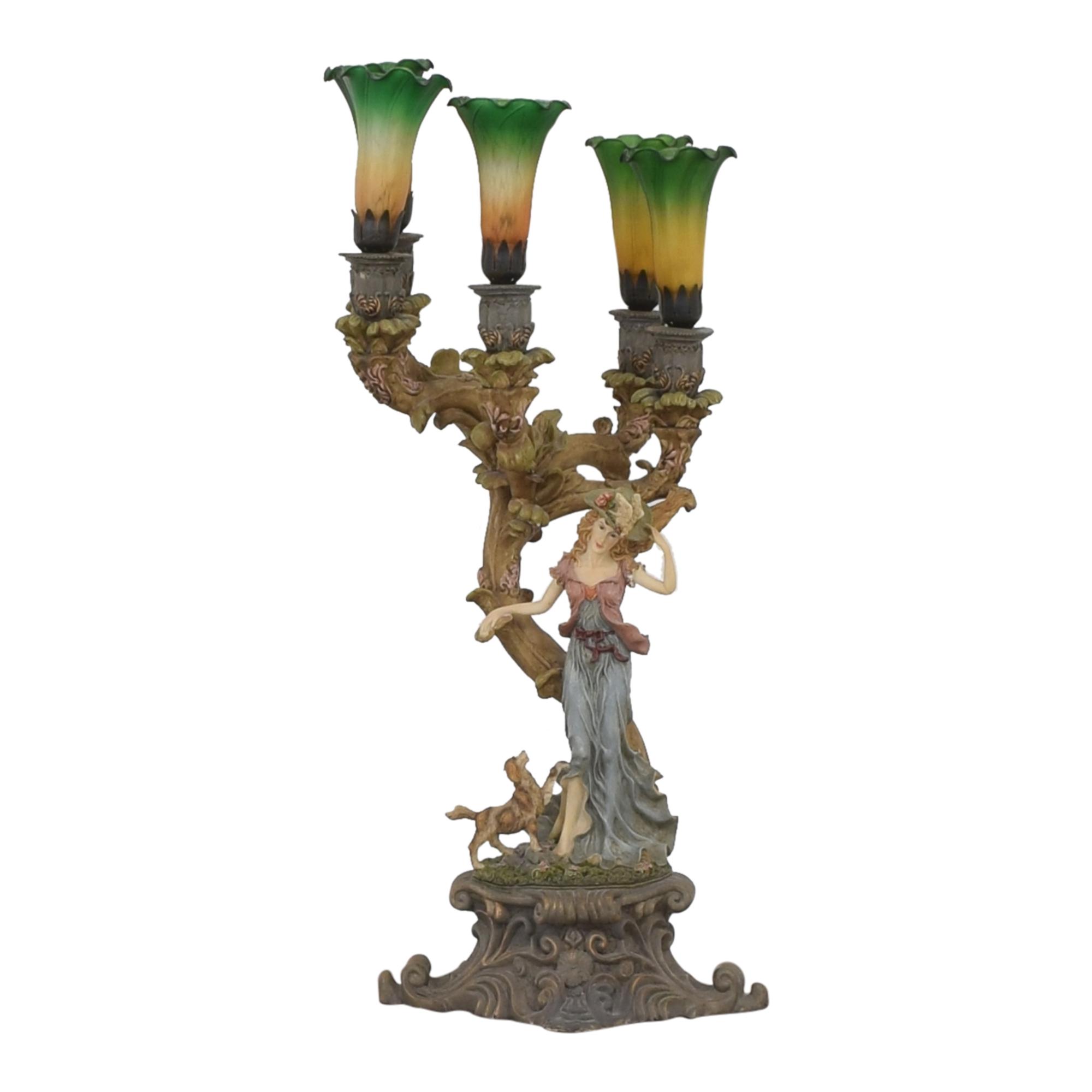 Art Nouveau Style Lamp nj