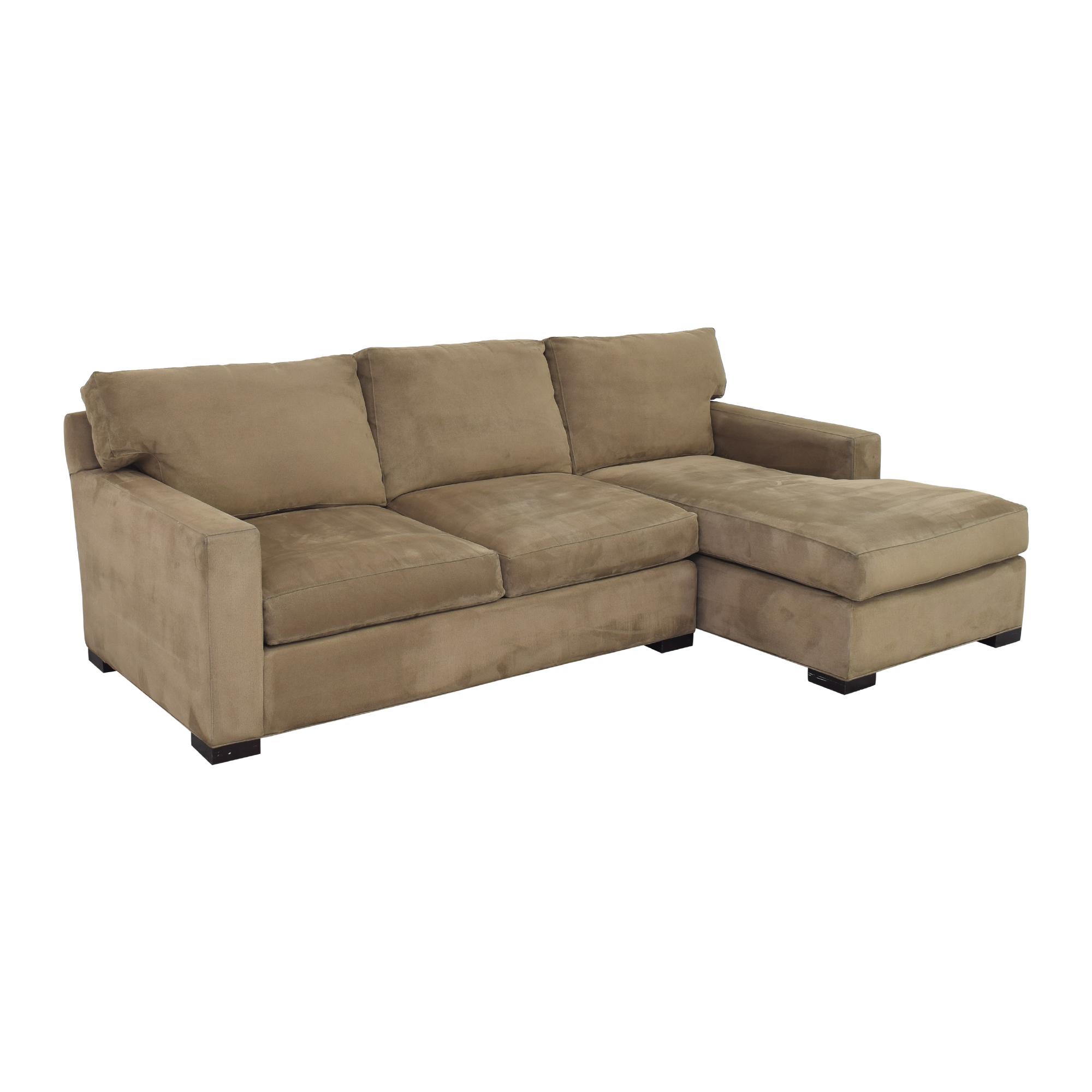 Crate & Barrel Crate & Barrel Axis Sectional Sofa light brown