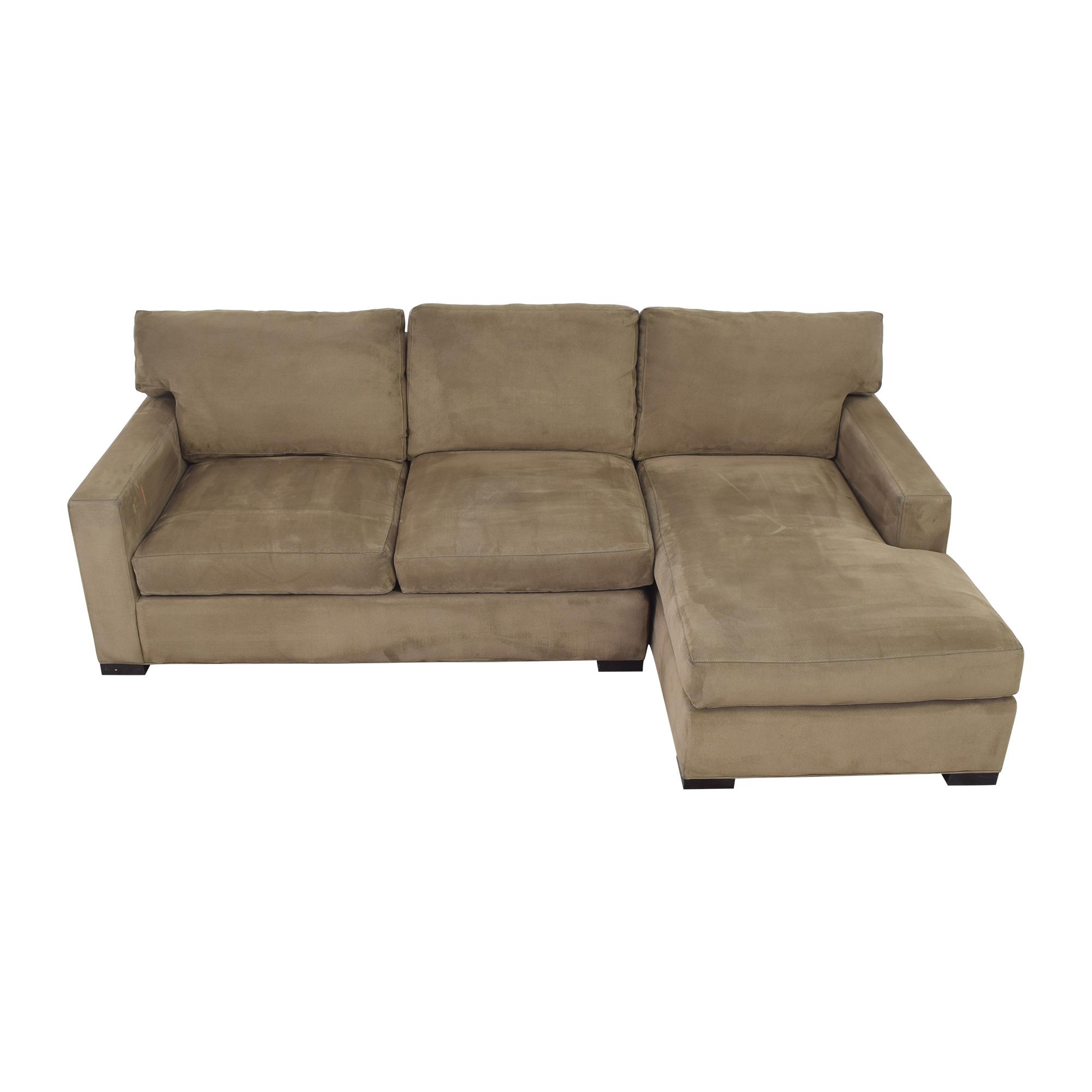 shop Crate & Barrel Axis Sectional Sofa Crate & Barrel Sofas