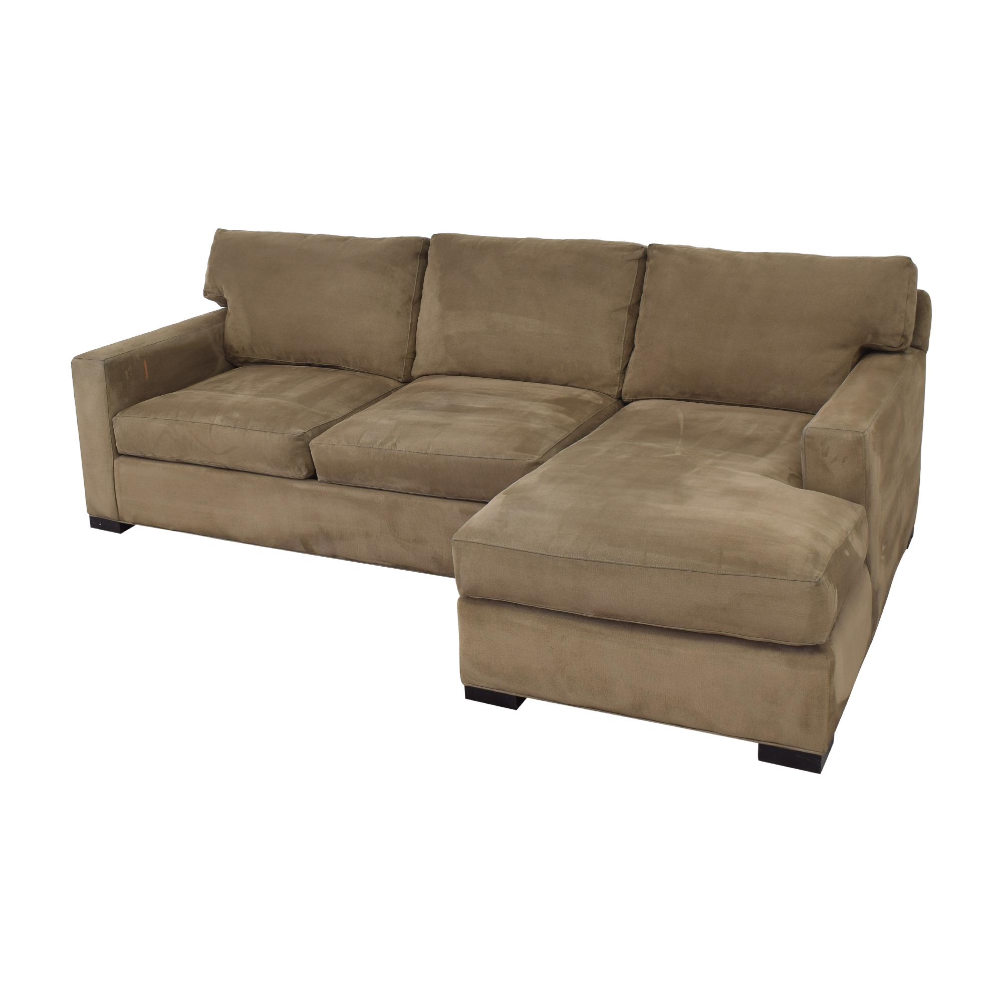 shop Crate & Barrel Axis Sectional Sofa Crate & Barrel