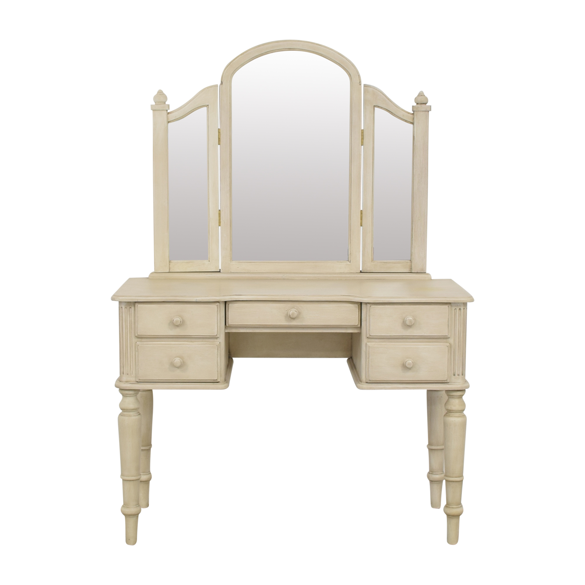 Ethan Allen Ethan Allen Vanity with Tri-Fold Mirror ma