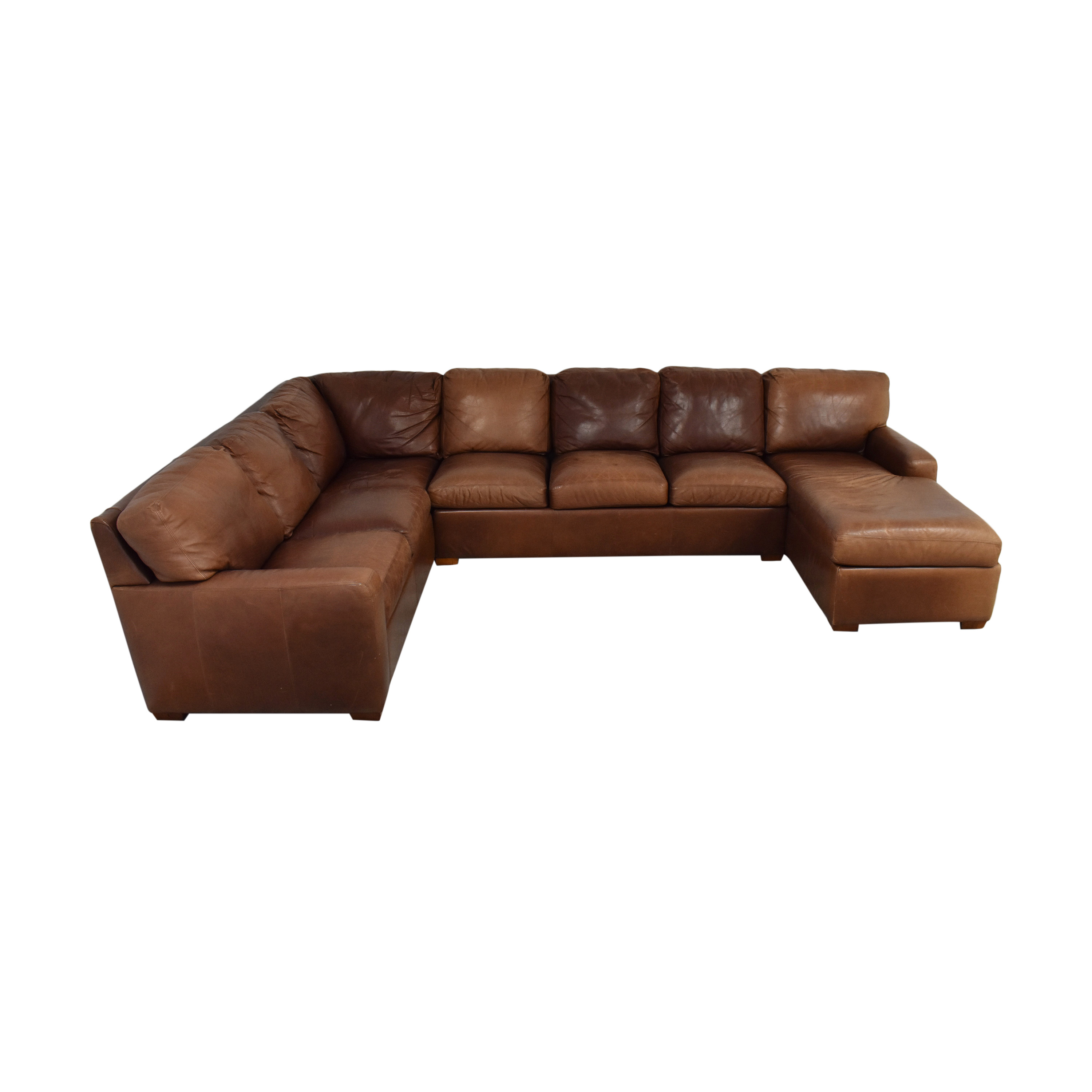 American Leather American Leather Danford Sectional Sofa dimensions